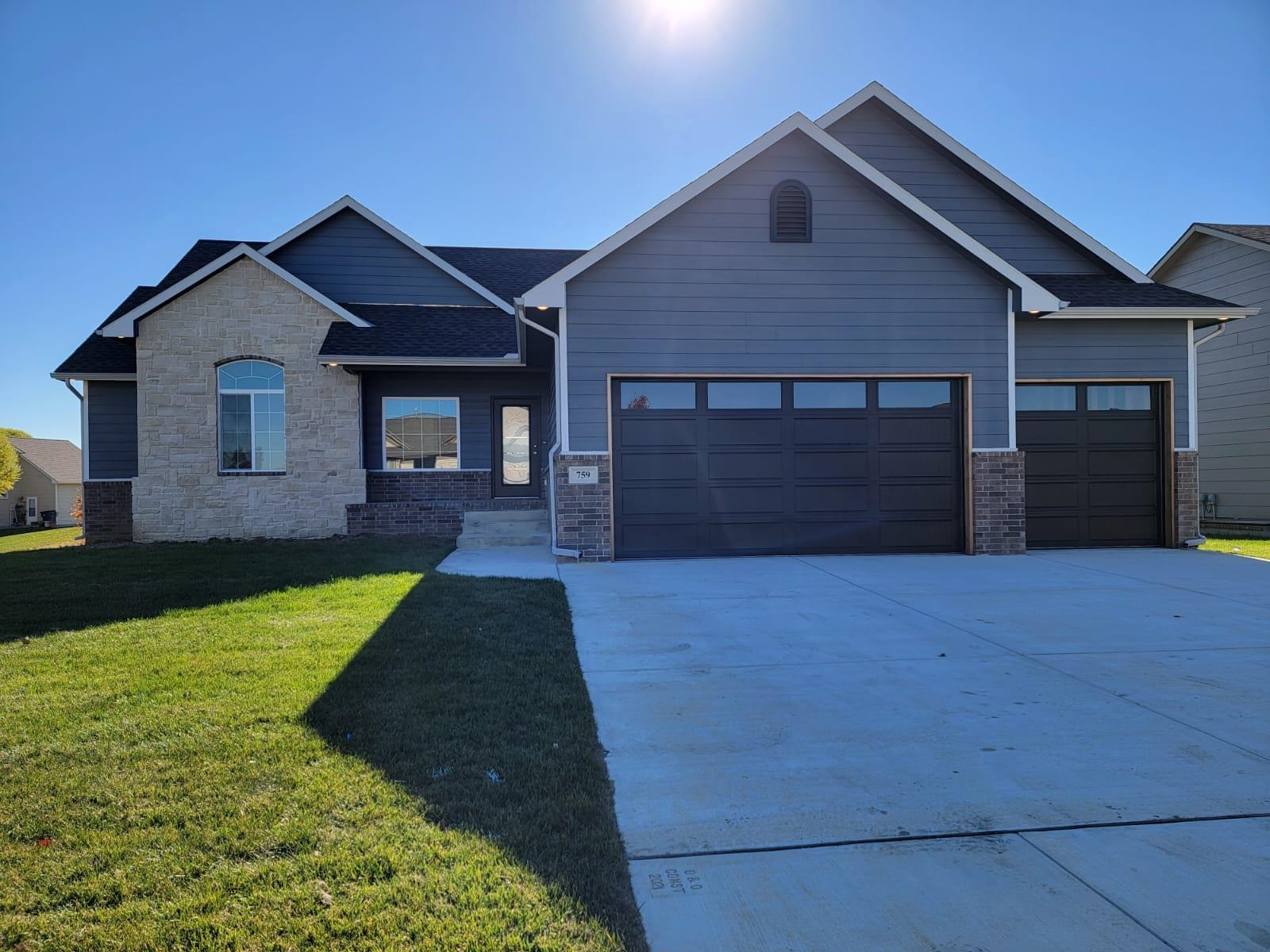 Brand new home 3000 square feet with 5 bedrooms 3 bathrooms 3 car attached garage and full finished