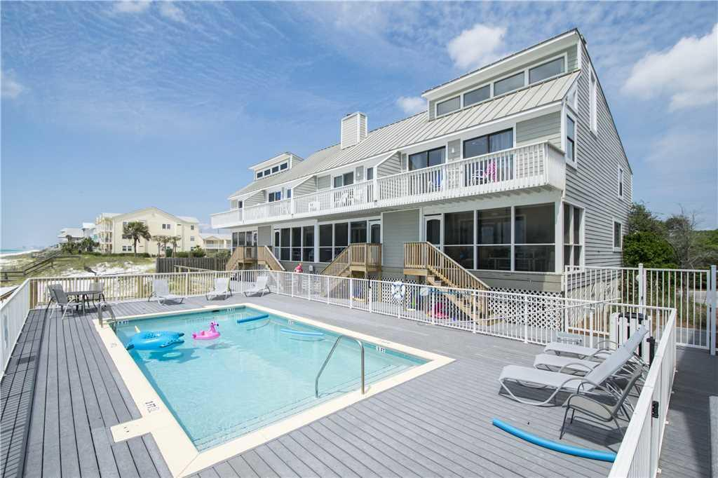 GULF FRONT on 30A for under $1M! End unit with gulf front master and incredible views from the kitch