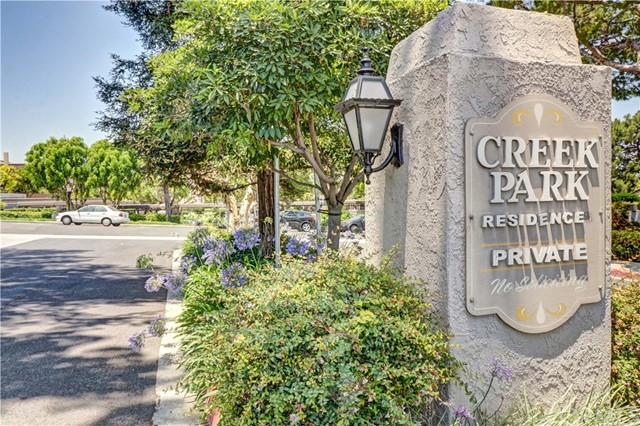 Single Story end unit in Creek Park Residences!  Spacious open floor plan with vaulted ceilings in living and dining room.  Original owner - original condition - great opportunity to make it your own!  There are a limited number of single story units in this desirable community and they rarely come on the market.  Living / dining room has a fireplace with views and access to a large private patio.  Indoor laundry area and large 2 car attached garage plus guest parking right outside the unit.  Creek Park Planned Unit Development consists of only 70 homes with low HOA dues of $215 per month and is well maintained with walking trails, greenbelts and a large pool and clubhouse area which can be used for your own special parties.   It is adjacent to the popular Creek Park which has a running creek and lots of trees and an abundance of nature and wildlife.  The park has a wonderful walking trail for exercise and benches for relaxation.  You will feel like you are always on vacation living in Creek Park Residences!