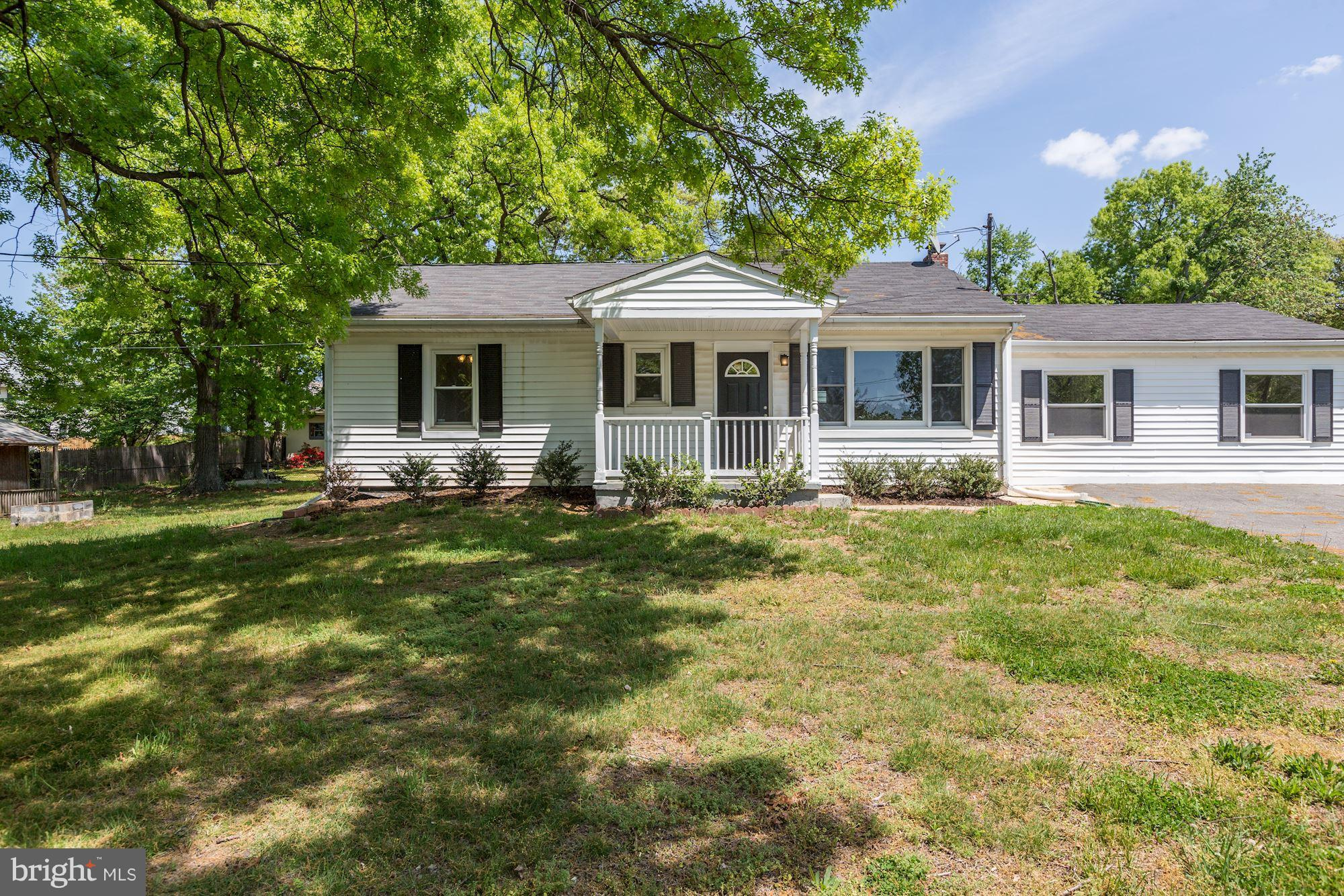 Cozy, newly-renovated rancher in Howard County. Brand-new gourmet kitchen with granite, SS appliances, & charming cabinets. Additional features include designated laundry room, beautiful tiling in bathrooms, hardwood floors throughout, & a basement that boast tons of storage. Take advantage of the spacious flat, fenced-in yard & driveway w/ a plethora of parking! You do not want to miss this home