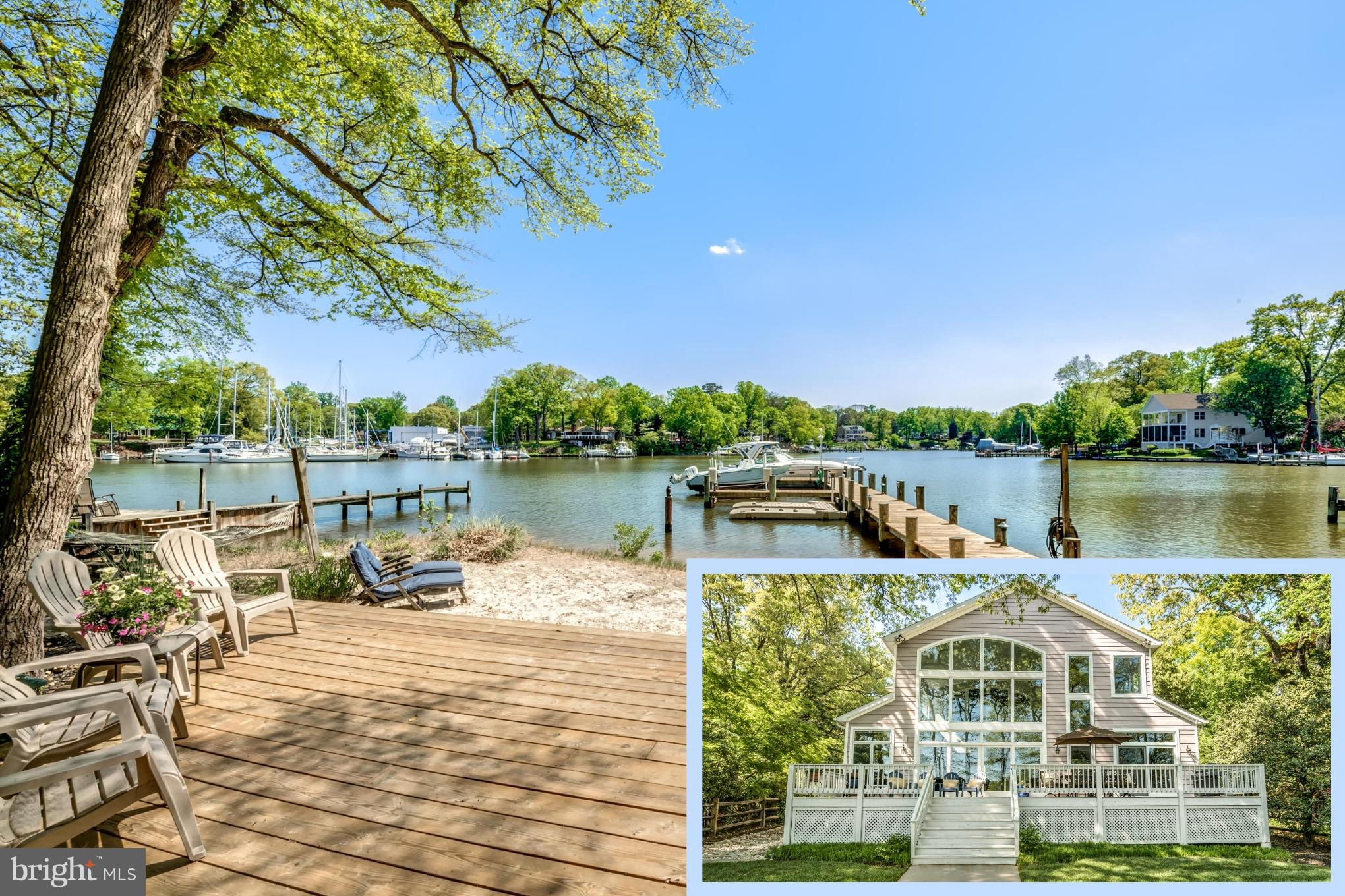 Stunning waterfront home featuring tranquil views and new deep water pier! Breathtaking, open main level made for entertaining features sun-drenched great room and stone fireplace. Two waterside decks & beach for gracious gatherings. Enjoy a casually elegant lifestyle here, from the waterview master suite to the fully finished basement with an HD theater room. Relax in private setting with easy access to Magothy River & Chesapeake Bay. Welcome home!