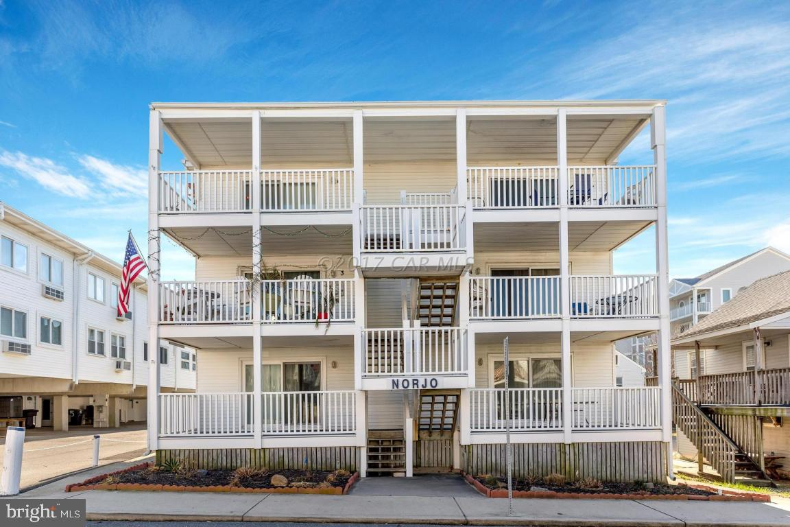 VERY GENEROUS PRICE IMPROVEMENT! Spectacular ocean views from top floor unit of OC Charmer small building (6 units)-as close as you can get to oceanfront but without oceanfront price! See & hear the beach, surf & waves from large balcony. Open concept floor plan has hard surface flooring-so easy to maintain. Bright & updated kitchen includes granite & has a full size front-load washer and dryer. Updated bathrooms boast custom upgraded tile. Parking for one car with private back entrance to condo. 3-season building saves on winter expenses & carrying costs. Plus has low condo fees! Popular locations only steps to restaurants, shopping, entertainment, recreation, so much more! Has been an incredible rental-with some years $32k+ Gri. Or buy and enjoy it yourself. Don't miss out-See this condo
