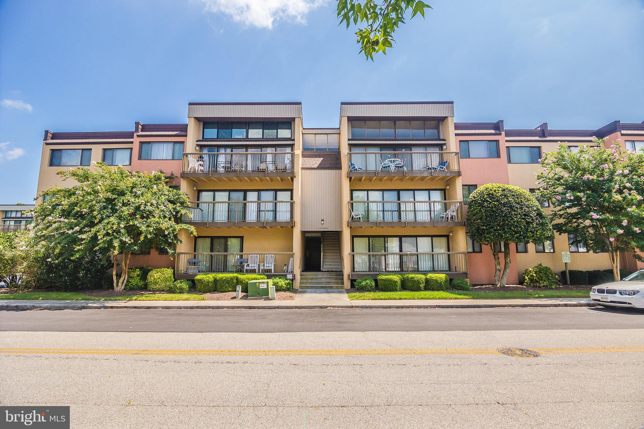 Move in ready 3 bedroom 2 bath condo on the 3rd floor. Beautiful views overlooking Caine Woods to the west. Short distance to the beach. Quiet neighborhood. Being sold fully furnished. New Carrier HVAC unit installed less than a year ago with 10 year transferable warranty.  Washer Hook-Up in owners closet and dryer vent can easily be run as well. Owner uses frequently, but can be shown on short notice (2 hours) Contact Jeffrey at 410-251-2196 $2000 SPECIAL ASSESSMENT FOR STAIRS AND POOL RESURFACING.