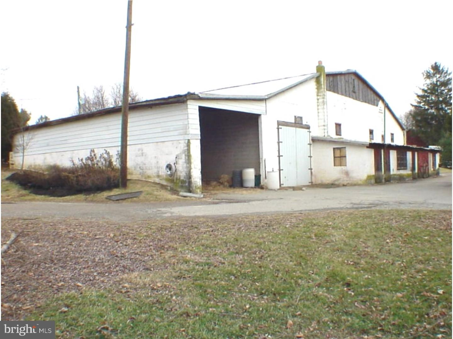 For Rent - 3300sqft concrete block building with 12ft wide doors. Great for storage or small work shop. Parking for 4-6 cars outside on the gravel lot. Also an additional 2460sqft section for rent for $400/month,