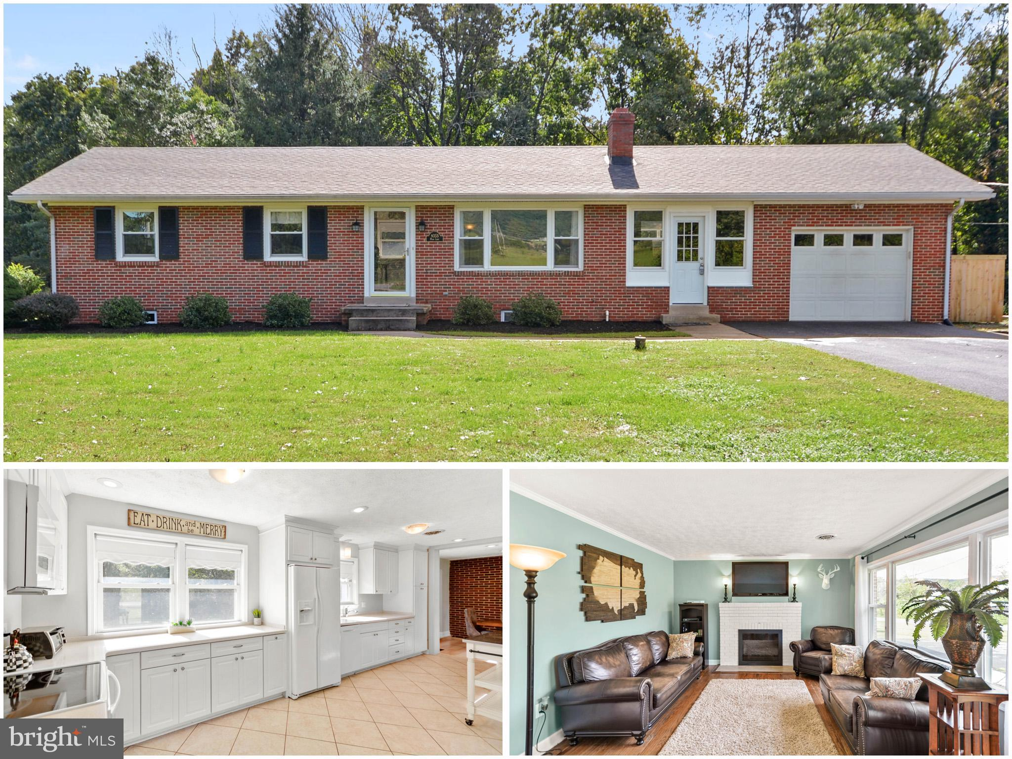 Updated Expansive Rancher just north of Frederick.  Owners have renovated kitchen, finished the lowe