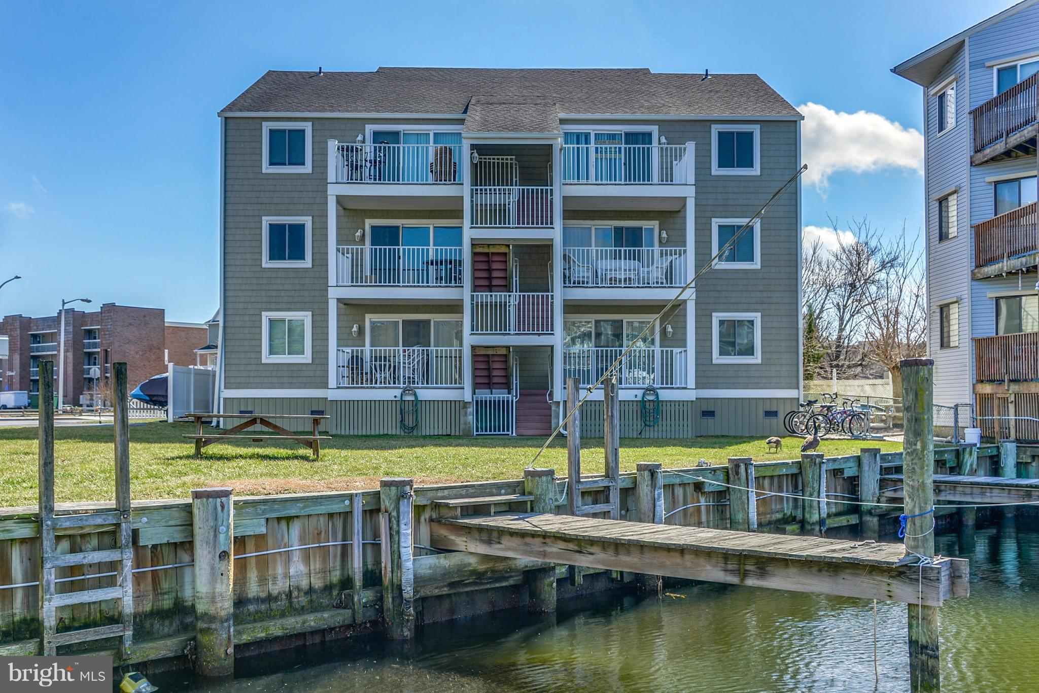 Enjoy Canal Views from your second floor Perch! This 2 Bedroom, 2 Bath unit has Fresh Paint and New