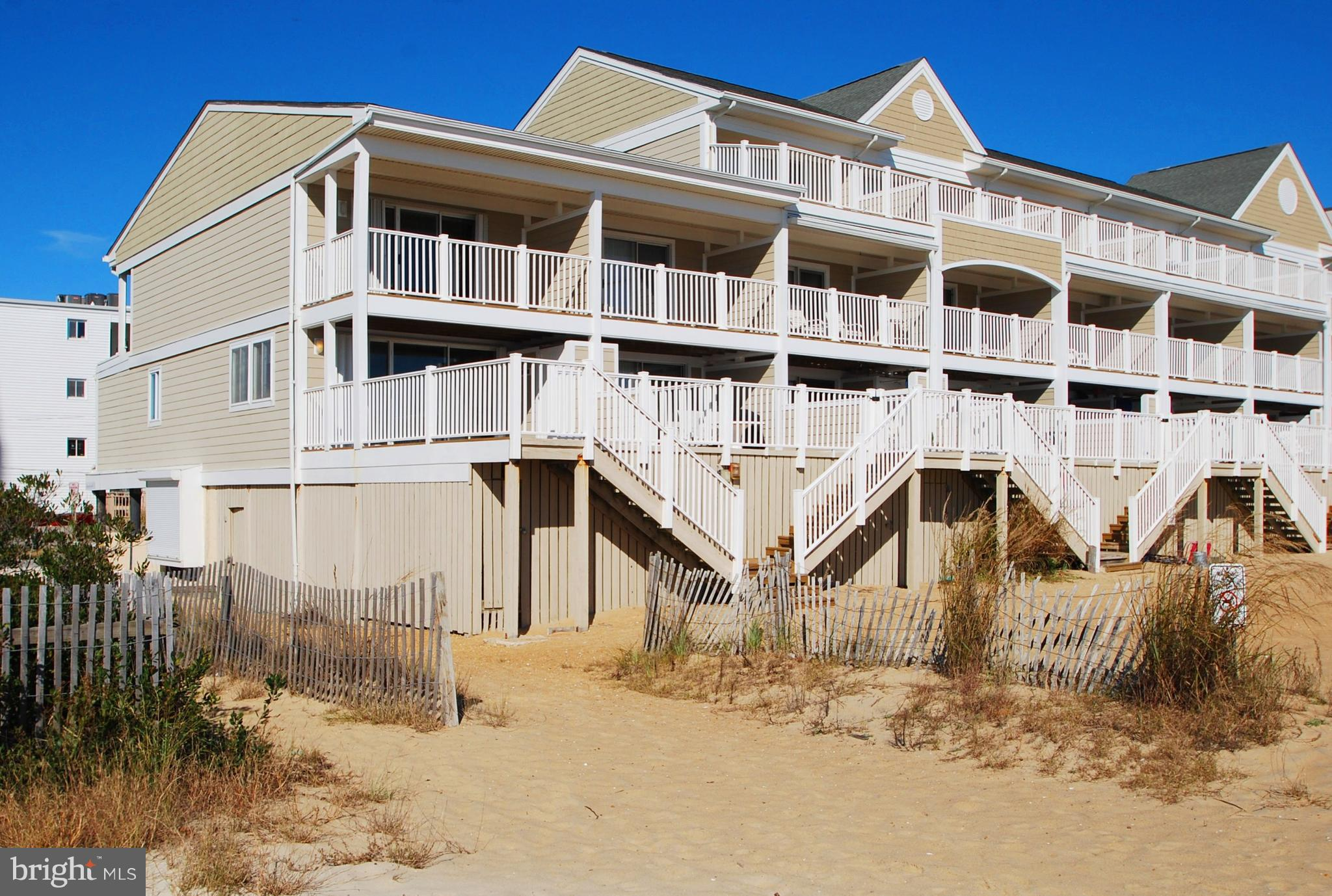 Rare South End Townhouse with amazing ocean views & steps to private sandy  area in front of unit. W
