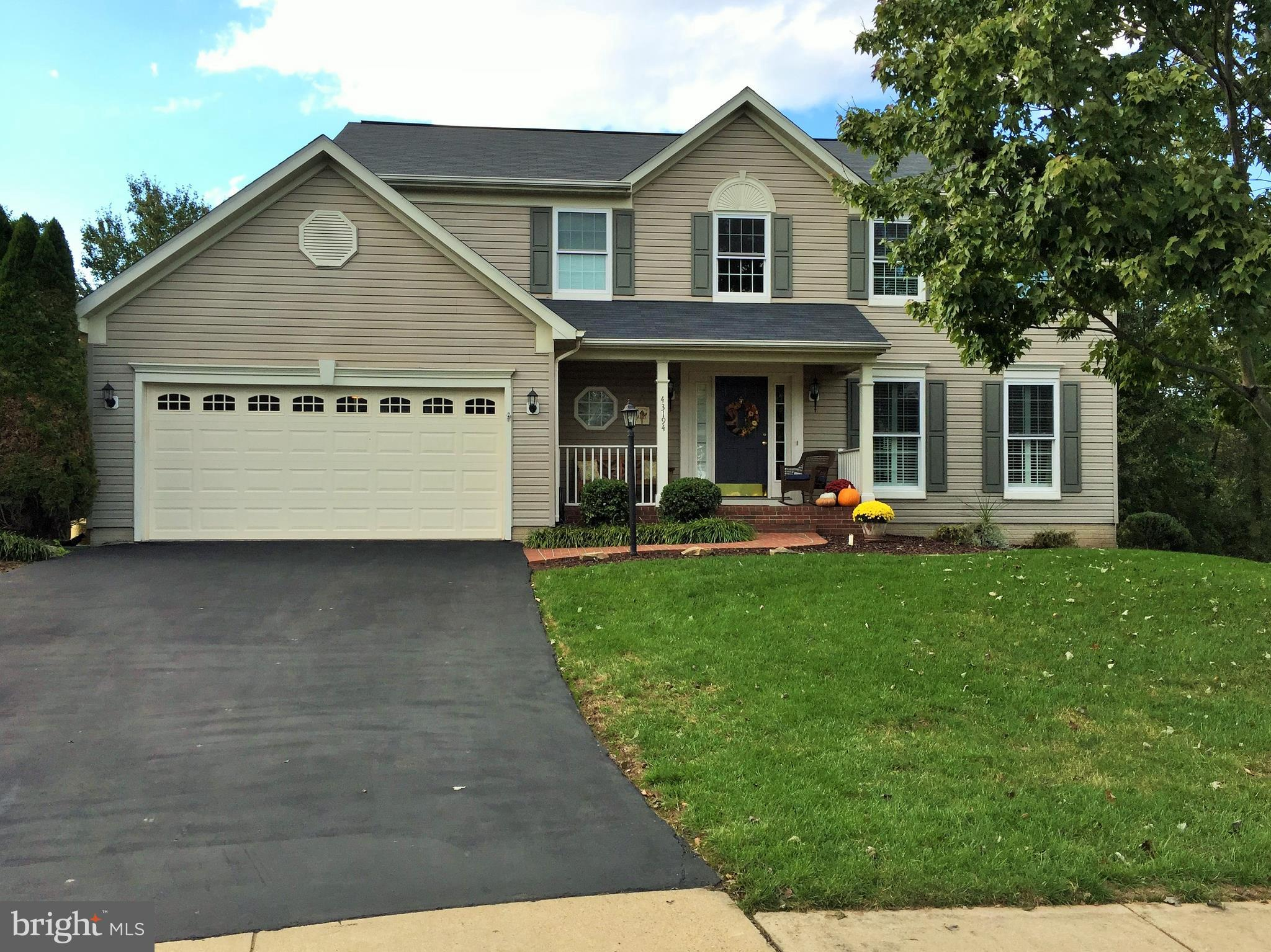 Very well maintained home on a quiet cul de sac in Potomac Station. Property has hardwoods throughou