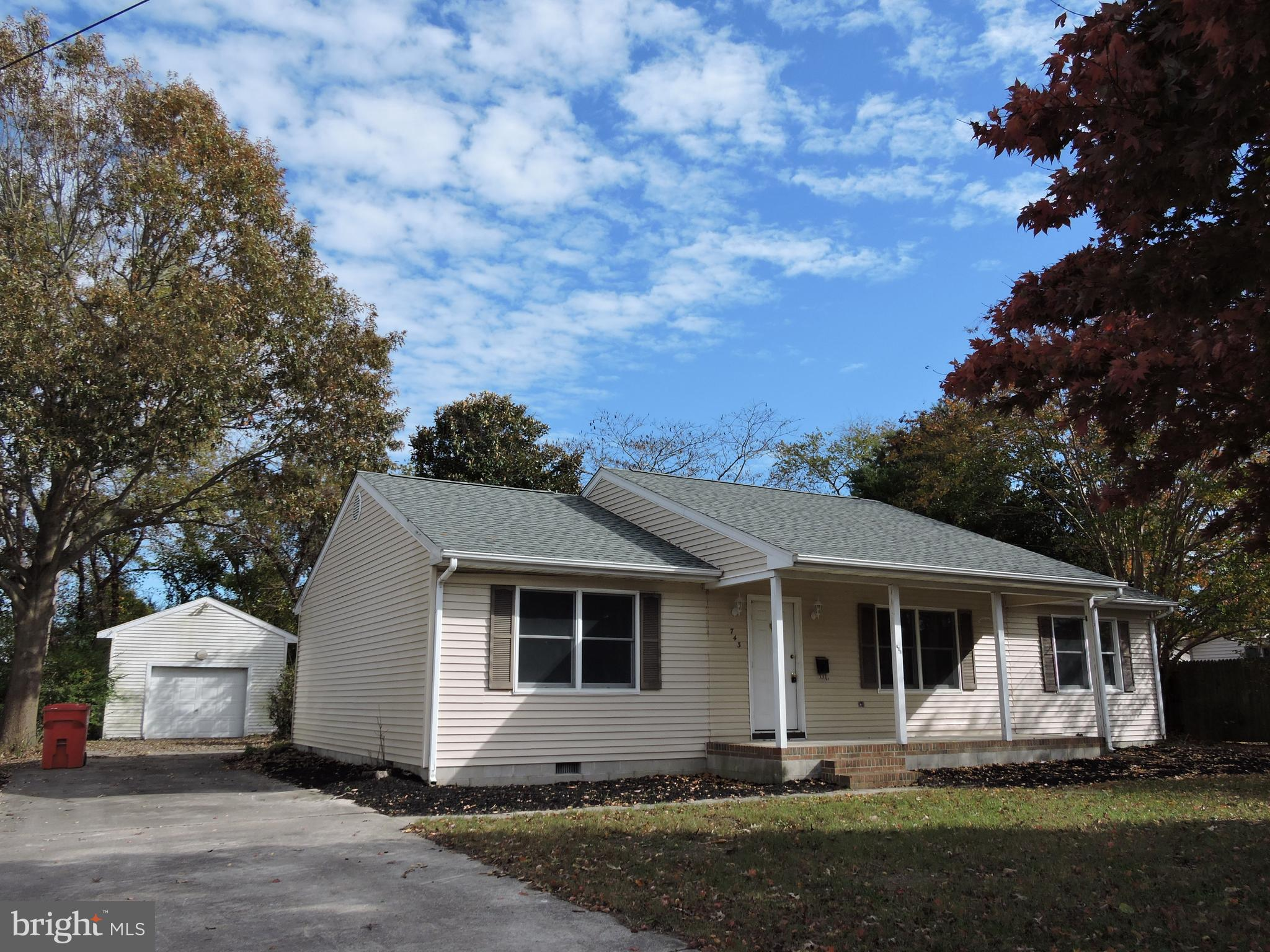 Hurry before its gone! Newly up-dated split floor plan ranch with detached over size 1 car garage. P