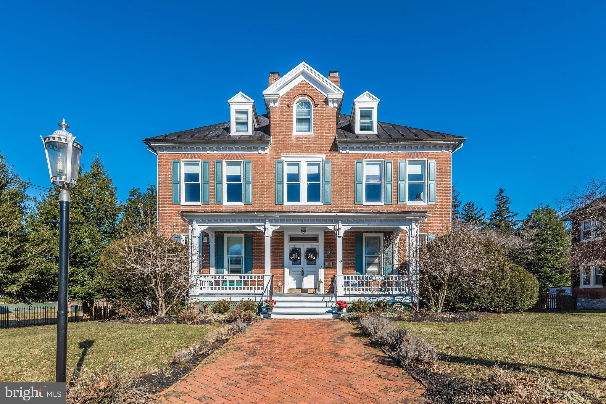Enjoy all the luxuries of a charming historic small-town setting. This extraordinary & elegant Victo