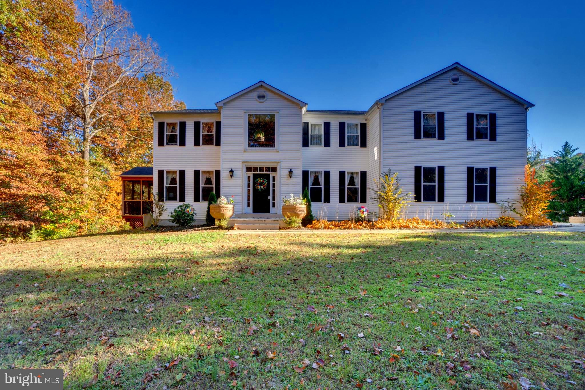 **New roof, skylights & screened in deck area**5,558 finished square foot Colonial on 3.48 ACRES**4