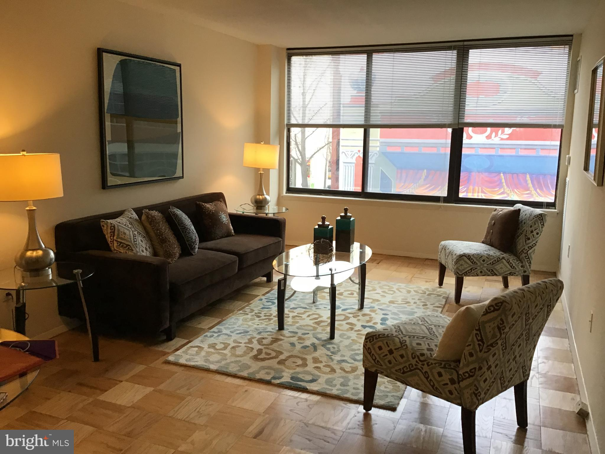 Location-Location.  This roomy one bedroom is superbly located near just about everything. This sunn
