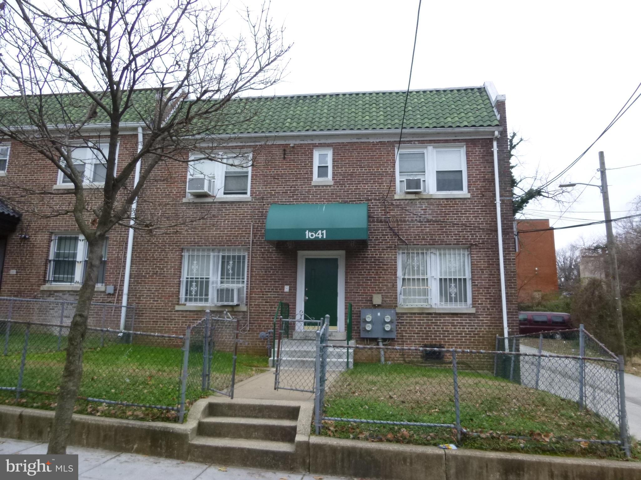 Well Maintained 4 Units 1 Bedroom Apartment Building in Sought After Anacostia.  Great Location, clo