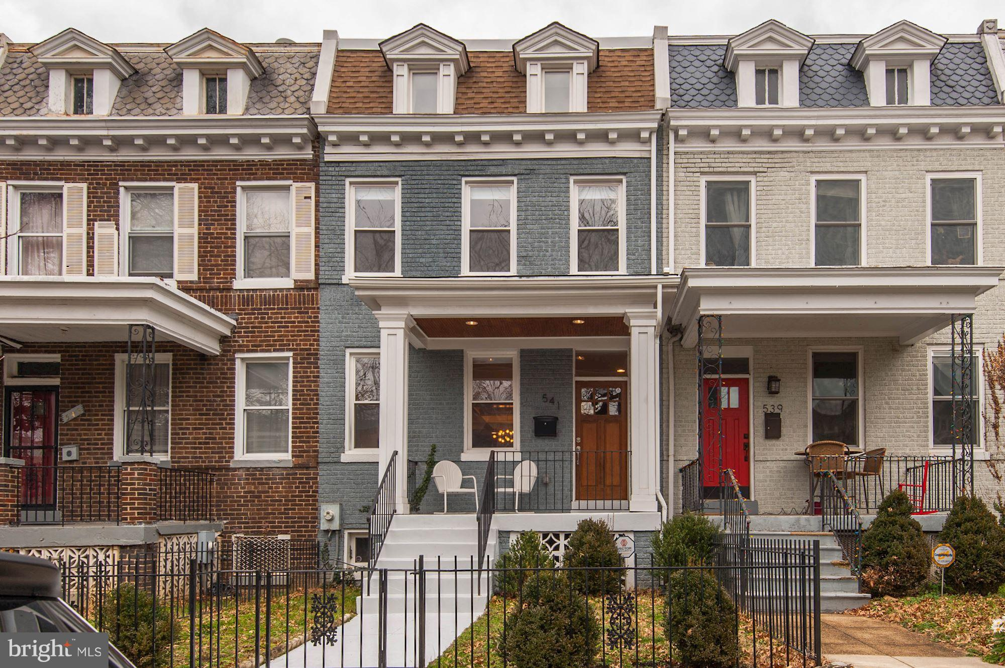 Stunning 2014 full renovation of a Petworth row home located steps to Metro, Upshur St restaurants,