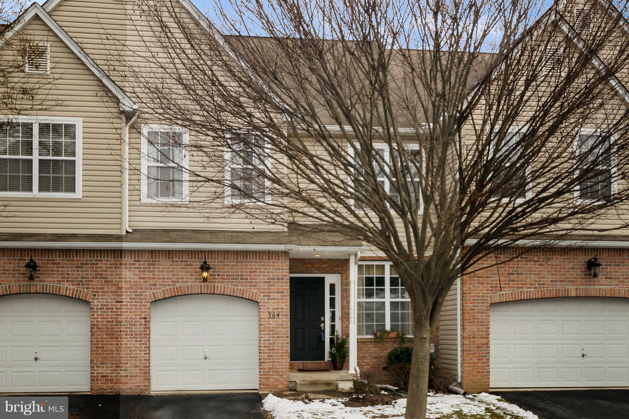 This 3 Bedroom, 2.5 Bath Megill Home townhouse is ready for its new owners!  Are you looking to move quickly??  This home is a clean slate, waiting for you to move in and make it your own!  You will be impressed by the open, airy feel and superb layout.  Cozy up by the gas fireplace in the family room, which boasts a magnificent two story ceiling and large windows that bathe the room in natural light.  Enjoy your kitchen which features plenty of counter space, a breakfast bar, and eat-in dining area.  Just off the kitchen, there are glass sliders that lead to a large deck that overlooks a serene wooded area.  Upstairs, the master bedroom suite has two large closets, as well as a master bath en-suite with large walk in shower.  Two additional spacious bedrooms, hall laundry and full bath complete the second floor.  The finished, walk-out basement is a great spot for a theatre, home office or playroom!  You will also find a very large, clean storage area in the basement.  All of this, plus the seller is including a home warranty for your peace of mind!  This home is in a fabulous community, in close proximity to the desirable Avon Grove schools and within walking distance to downtown West Grove & Goddard Park with its walking/bike trails, playground and dog park!  If location, ease of living and style are important to you, you will not want to miss this one!