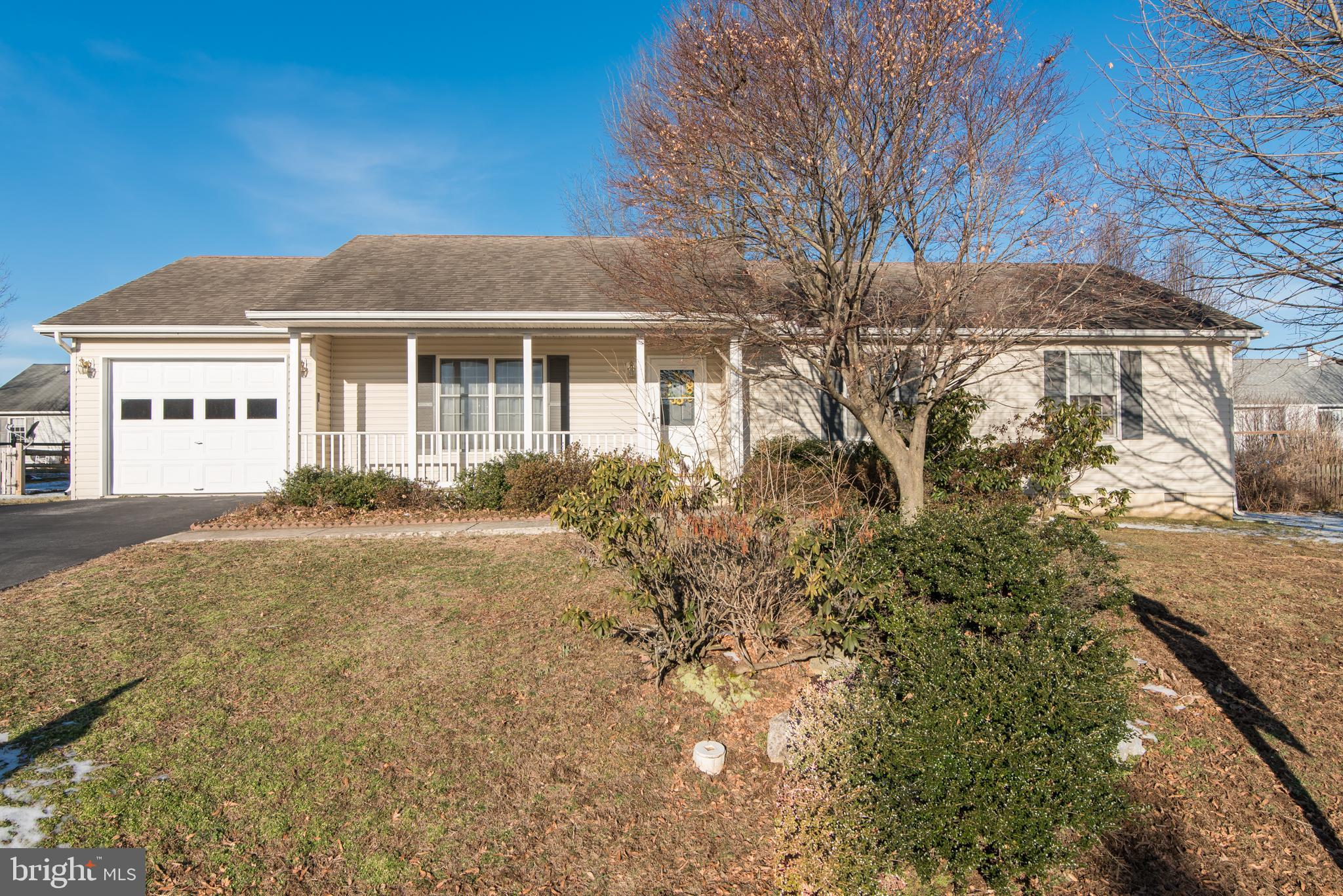 Charming Open Floor Plan 3 Bedroom, 2 Full Bath Rancher With Mature Trees & A Great Front Porch Loca