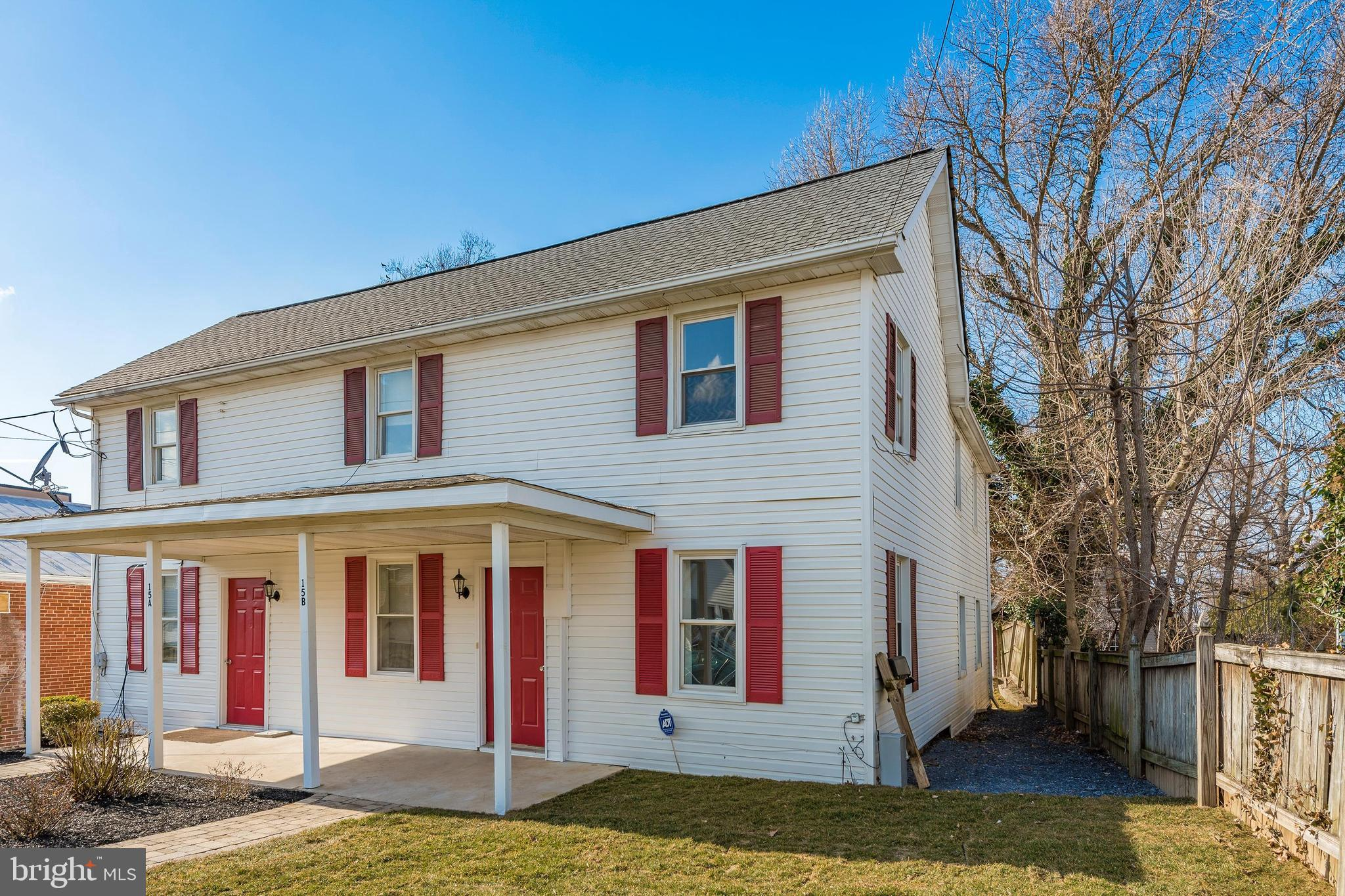 """Rare opportunity to own an incoming producing duplex in walkable Walkersville!  """"A"""" side offers 2 be"""