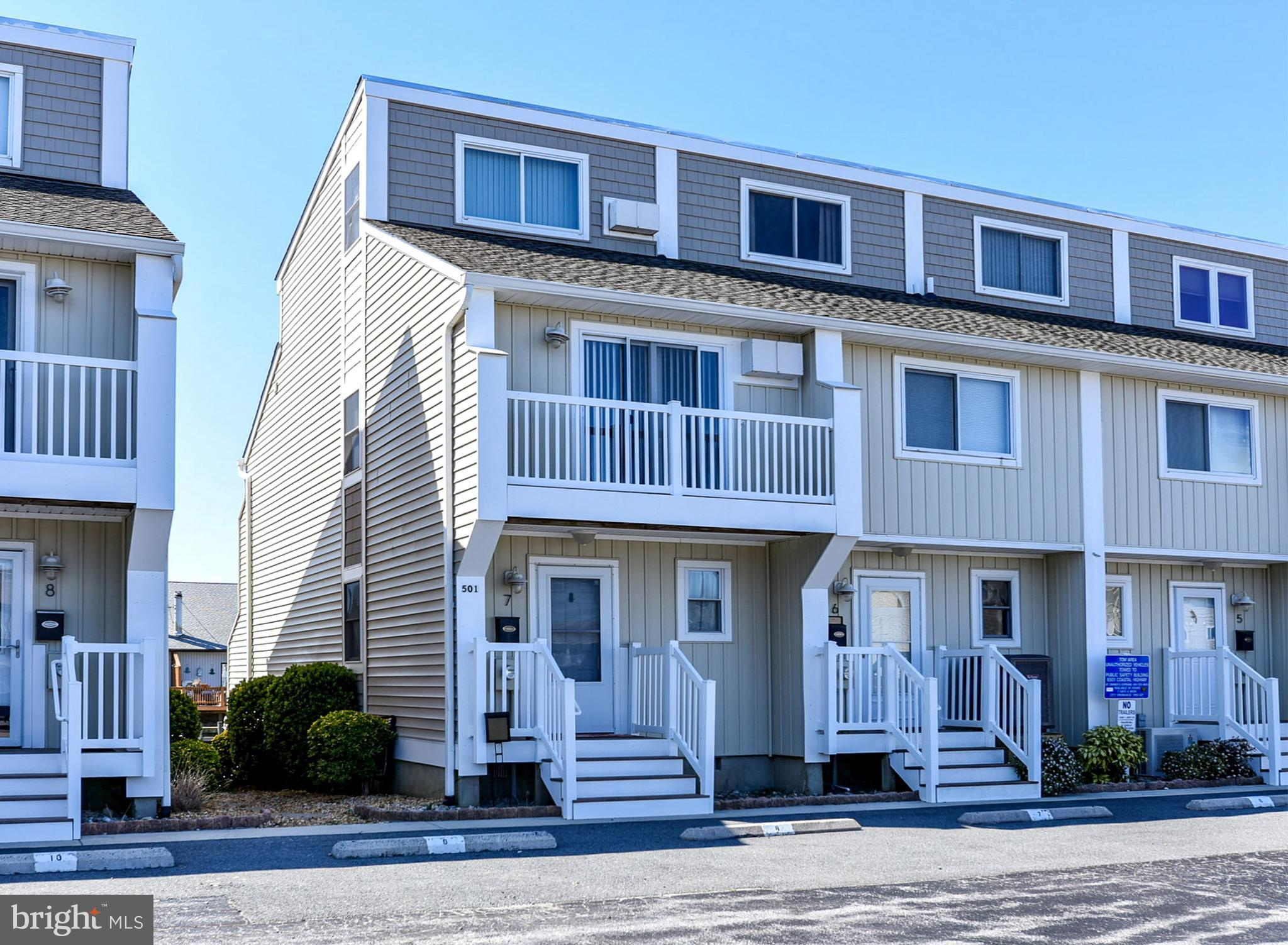 Waterfront, Southern Exposure, Nice 3 Bedroom, 2.5 Bath with Boat Slip, Pool, Private Rear Deck overlooking Canal, Community Boat Ramp, Located Bayside 32nd Street Area,  Close to Boardwalk, Jolly Roger's, Excellent Rental, Buyer Must Honor Rentals