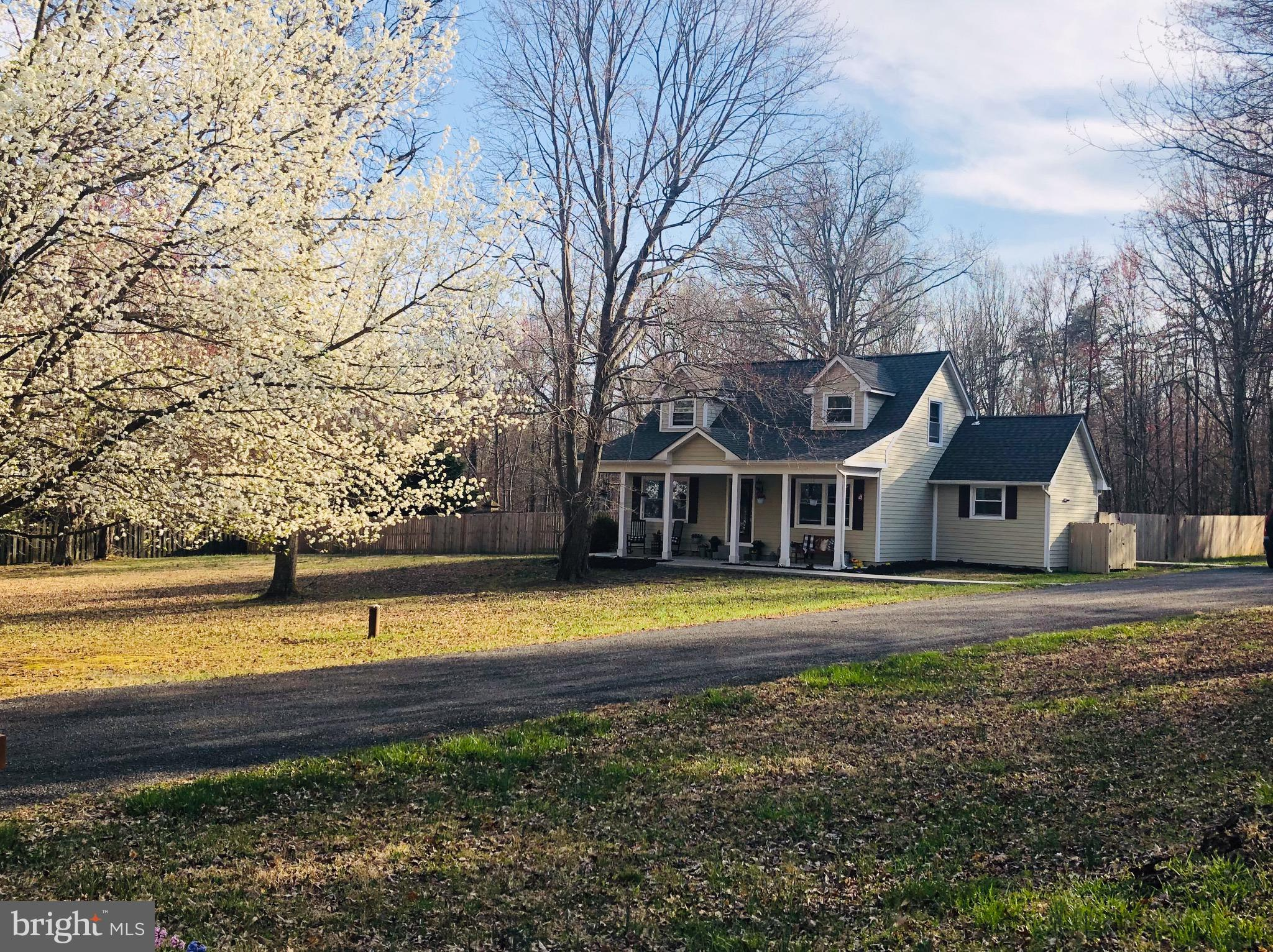 Enjoy country living in this charming Cape Cod located on one acre in Western Prince William County