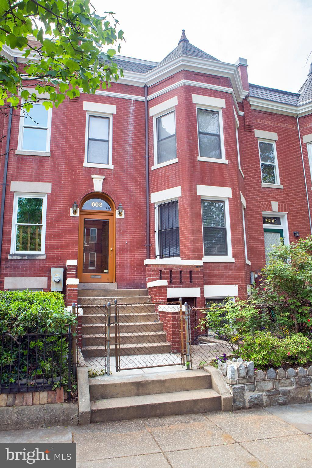 Off-Market while Disclosures are awaited. Great Victorian just short steps to Union Station, a healthy stroll from H st after dinner, an easy trek to Eastern Market, a quick ride to Union Market... new menus, new venues, good schools nearby, parks abound. The early morning sun will brighten your entrance, a later light will brighten your balconies. This property retains the charm of an earlier age. Warning! Its NOT Open, NOT Grey, NOT blase~  It has the warmth of ages and some demanded amenities.  This home has three finished levels, with 3 bedrooms above grade and lots of potential below grade. Many Original touches & unique upgrades plus a singular floor plan, makes for a one of a kind design,  With a wide lot & lots of square footage, this home is a unique value for the creative buyer.  Take a look, the trends of today may  stay around, but the style and charm of yesteryear will remain as charming and warming every year. Original features, warm wood, connecting stairs w/ in law suite front and back entrance. Fireplace in main living room area. Feels much larger, foyer entrance with original tiled foyer. Two balconies from upstairs and kitchen. It is close to E Union Station market and H st corridor, on a quiet residential stree.