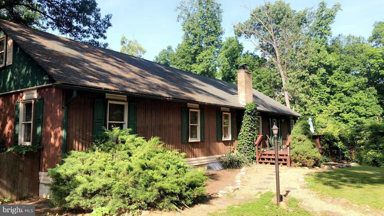 Beautiful log home situated on a knoll overlooking the Shenandoah River with public access in a quie