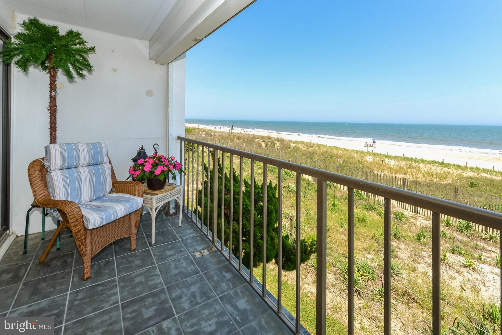 From the private direct oceanfront balcony relax and enjoy the sights & sounds of the beach & ocean