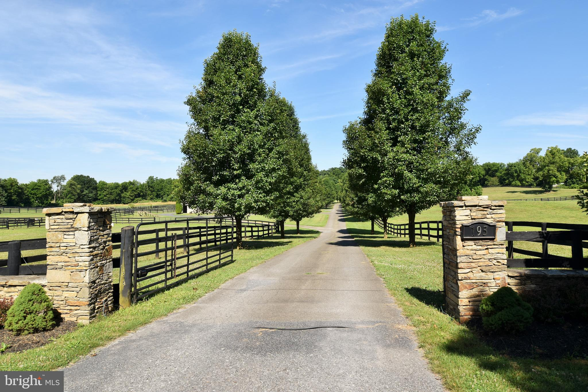 A truly spectacular gated equestrian property in the heart of the Blue Ridge Hunt Country for you and your horses located in the gorgeous countryside in Clarke County, Virginia.  5 bedroom, 4.5 bath Colonial home and horse facility that is located on 22+ acres with a 10-stall Belmont style horse barn/stable with tack/feed rooms/wash stall, hay storage, black board fenced pastures and paddocks, automatic waterers in 9 paddocks, sand riding arena. The home has 3 finished levels with just under 4000 square feet of living space with an in-law suite on lower level with bedroom, 2nd kitchen and full bath. Master bedroom suite has sitting room with wet bar. Hardwood floors throughout the main level, 2-story foyer, island kitchen and breakfast room with granite counters and stainless appliances. Gated entry with tree lined driveway through the property, a spectacularly gorgeous place to call home.  Just off Route 50 for easy commuting.