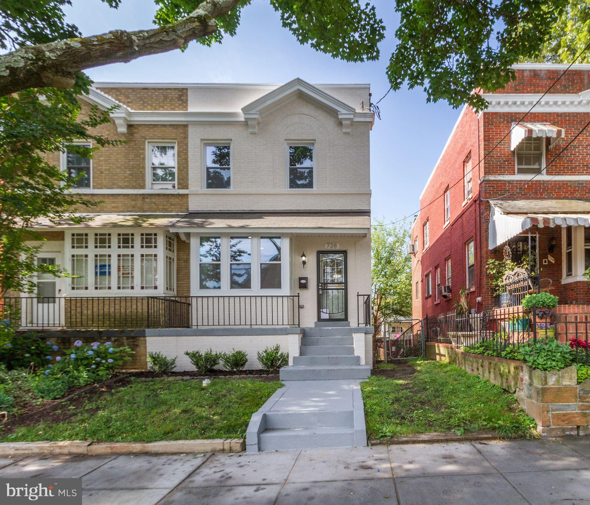 Beautifully renovated 3 BR, 3.5 Baths, 3-level Semi-Detached home in sought after Brightwood! Les th