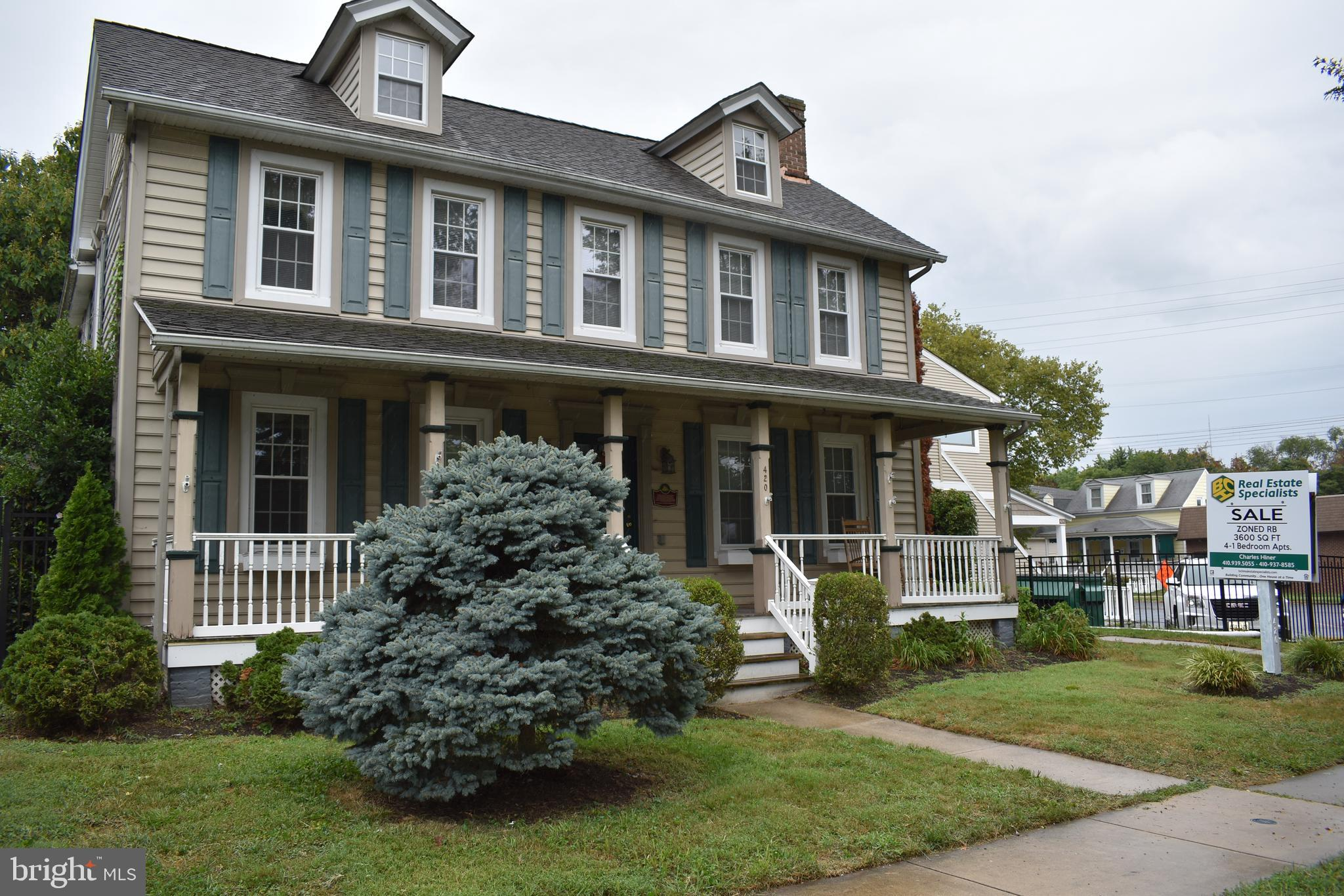 Great Furnished Investment Property located in Historic Havre de Grace.  Separate Metered Units.  Wi