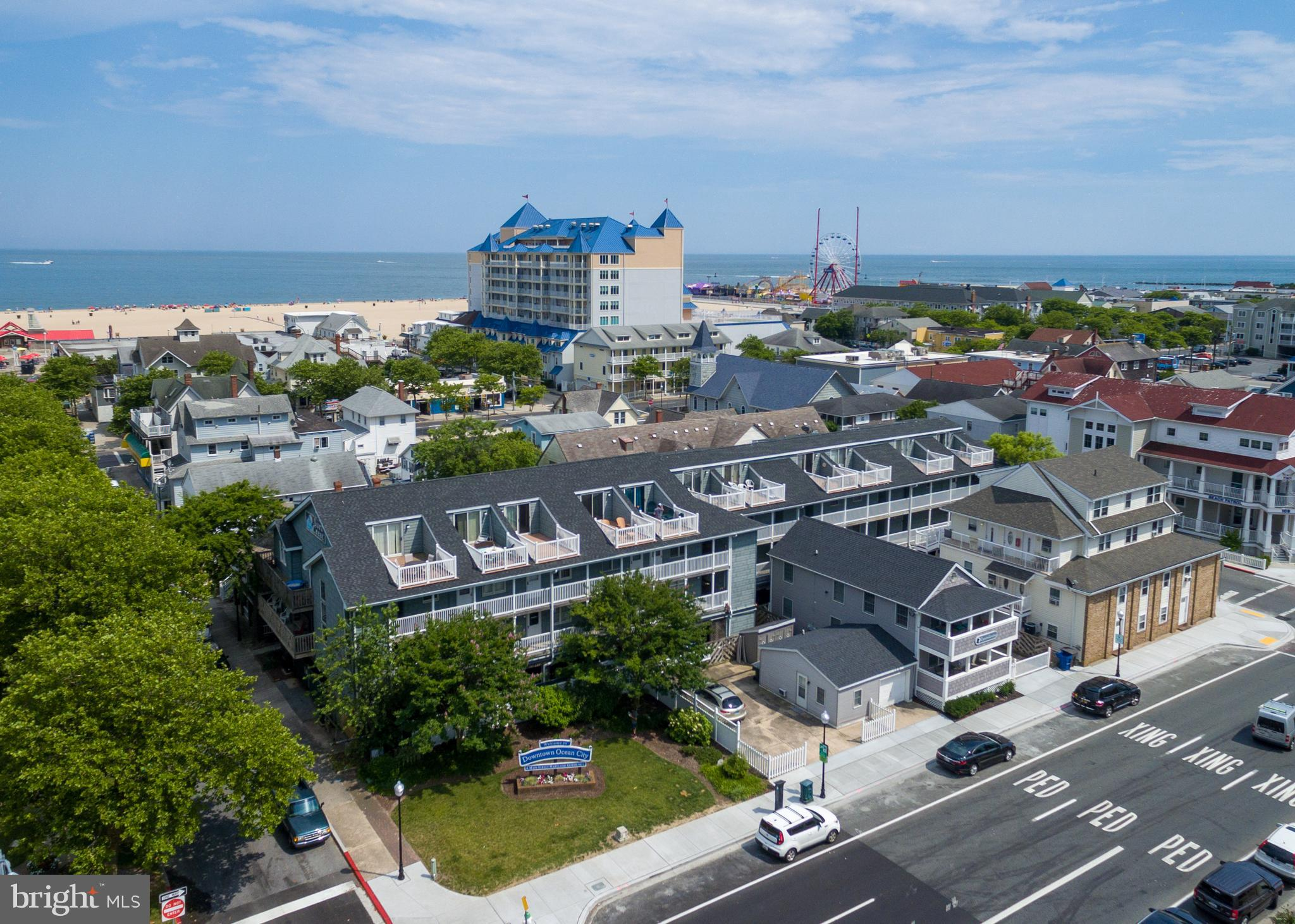 Large 2-level End-Unit Condo at the Surf Crest Condominiums.  This 2 Bedroom, 2 Bath Unit has excellent rental history and the Downtown Ocean City views are untouchable!  Superb Rental Income!