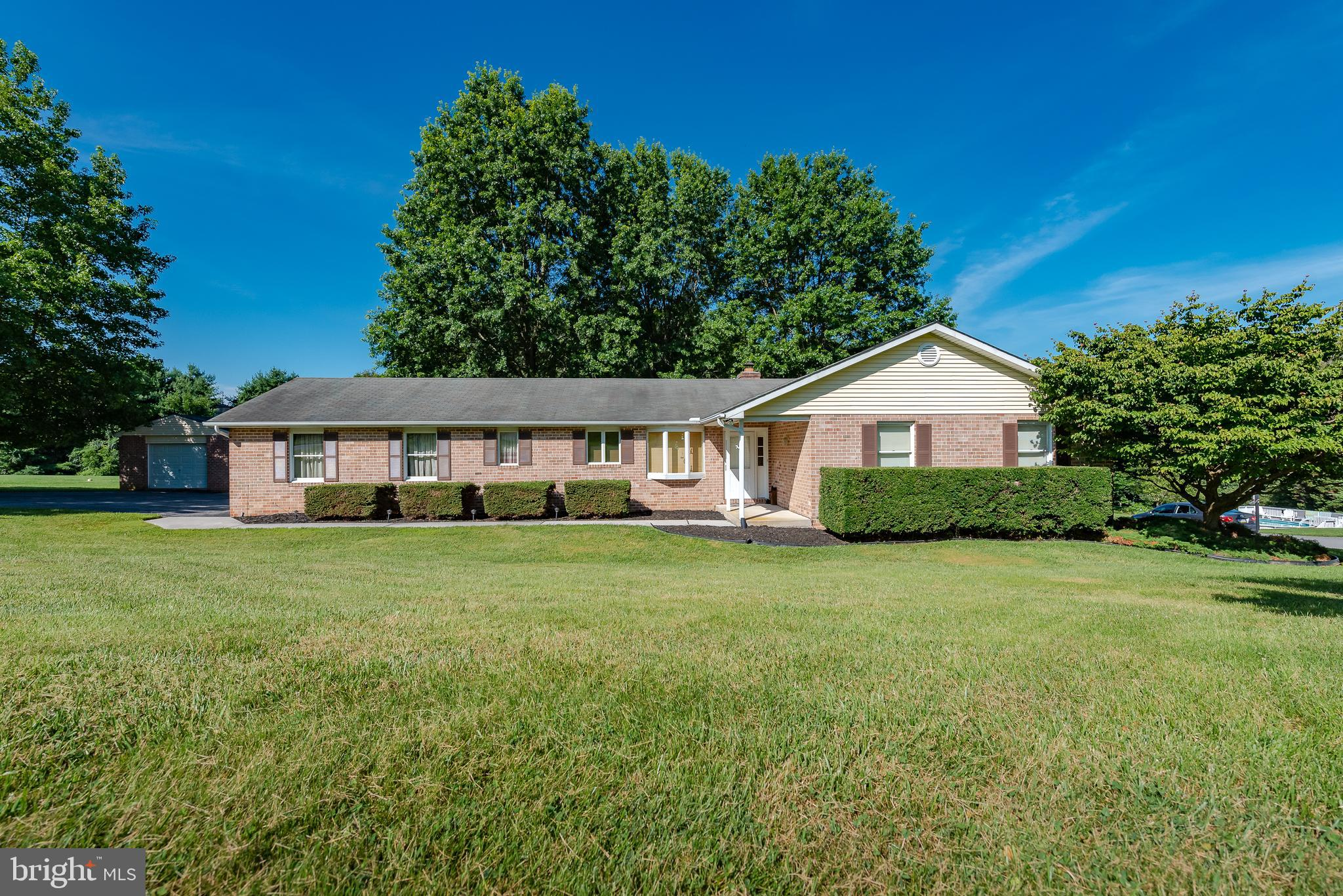 Welcome to this lovely ranch style home situated on just over an acre with mature shade trees and pl