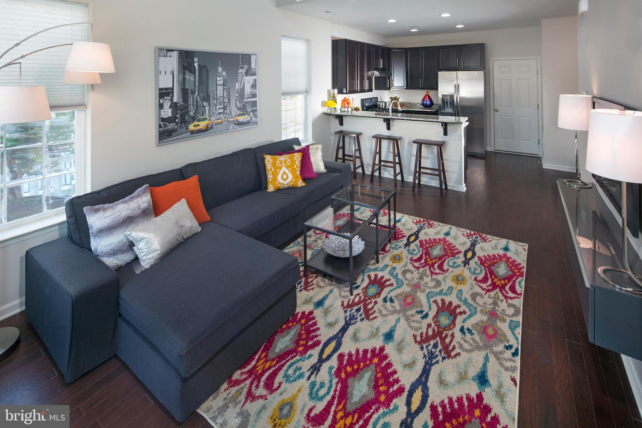 The Emerson floorplan, one of the exciting stacked townhome condominiums offered at Darley Green by