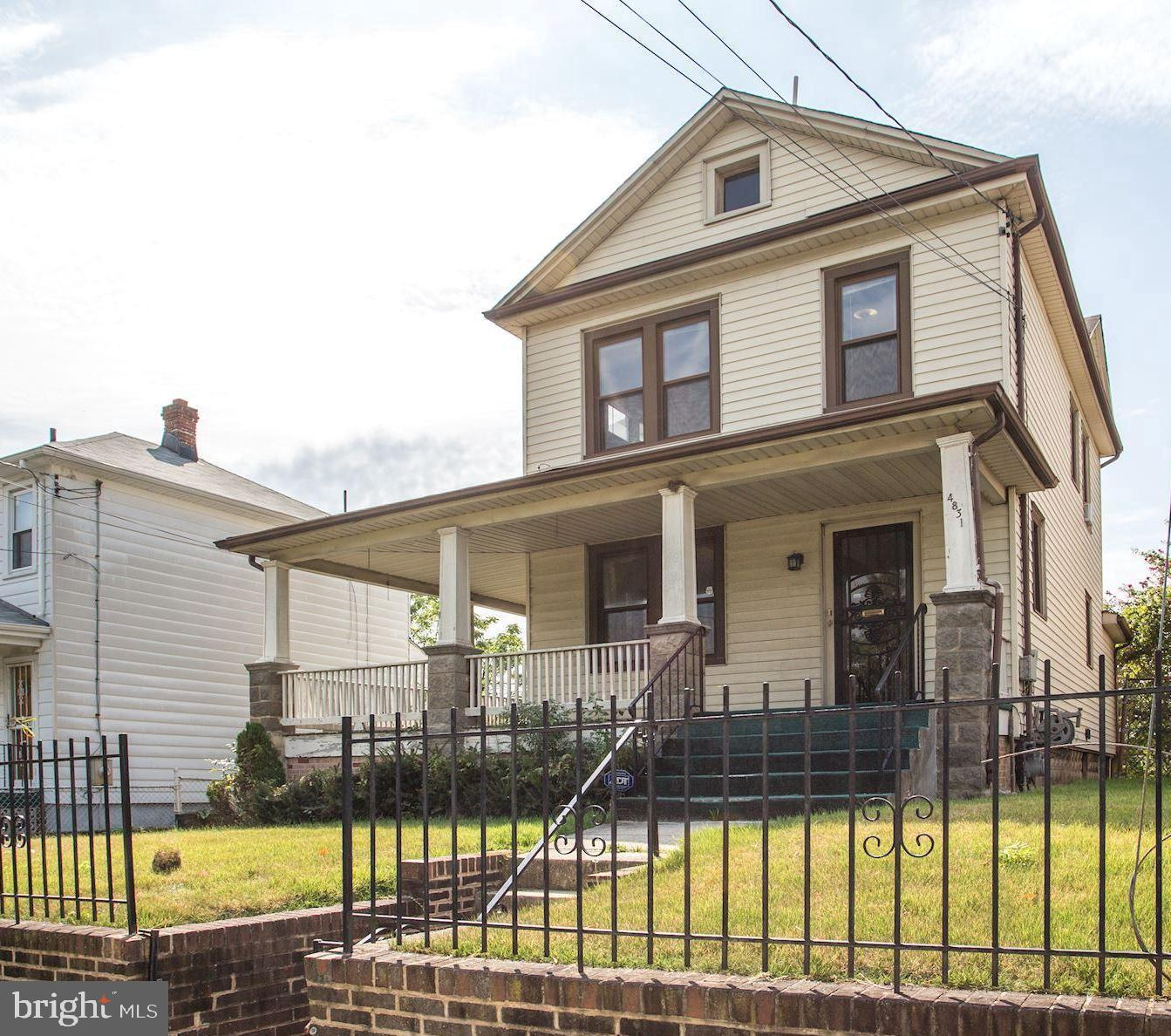 Large 4-square detached well-maintained home with Victorian influences featuring eat-in kitchen 3BR,
