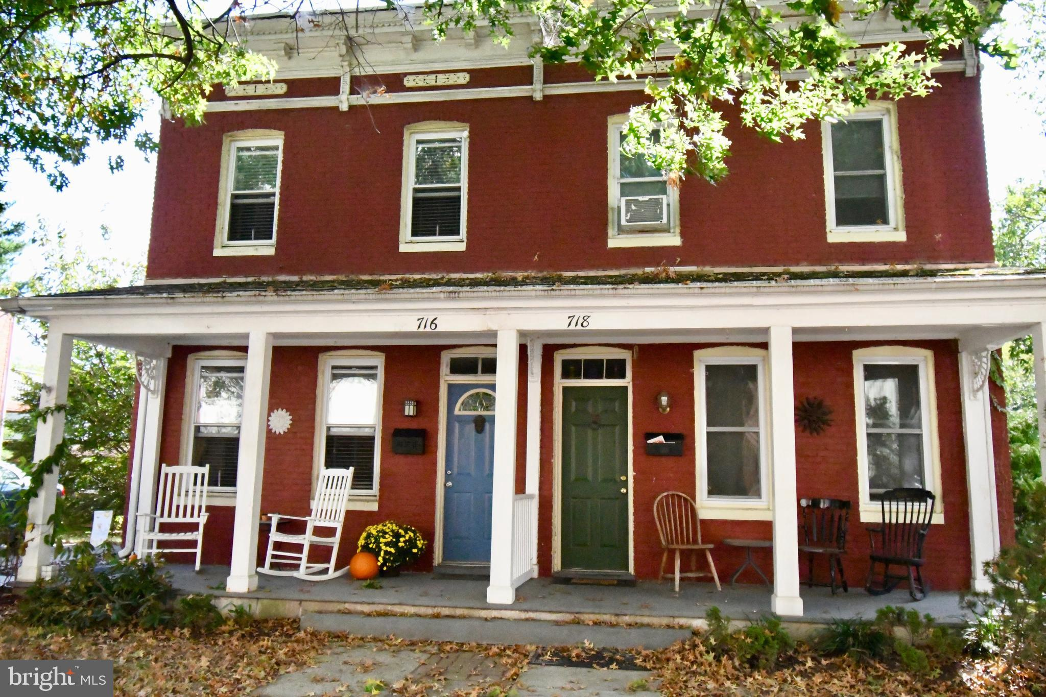 """Beautiful, updated, """"duplex style"""", brick home located in historic Havre de Grace. Dates back to the"""