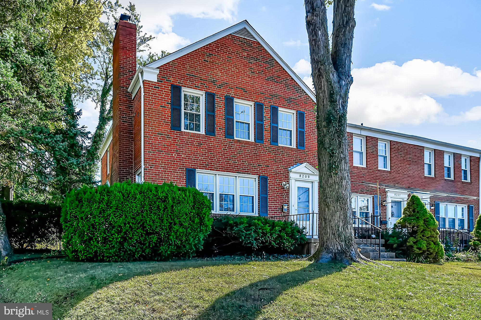 This renovated End Of Group in Loch Raven Village was the model home for the community! All of the best LRV has to offer; FOUR bedrooms, roof was replaced 8 years ago, replacement windows with bow in DR, hardwood floors, TWO fireplaces, granite counters, new HVAC, fenced in yard w/ parking and so much more. Across the street from Calvert Hall fields, and nearby to shopping and convenient access to 695 and more. The renovations were JUST completed making this home move in ready for YOU!