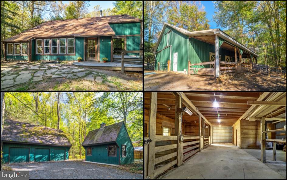 Welcome Home! This charming house is situated on 5.6 acres, including a fenced area surrounding the