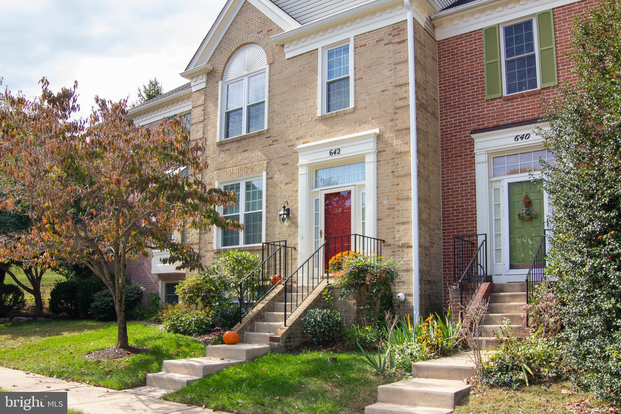 SHOW STOPPER! Brick townhouse in a sought after community at the end of a quiet court* Updated and reconfigured kitchen with beautiful cabinetry, granite, wood floors, and stainless steel efficiency-rated Kitchen Aid appliances.*Main level boast lots of natural light* Dining room leading to deck that backs to open space and trees*Upstairs features a large master bedroom with vaulted ceiling, large walk-in closet, and private master bath. The master bath has a Velux manual-open skylight, large tub, and double sinks. There are also additional bedrooms, laundry area, and an additional bath. Downstairs has a large cozy family room with a fireplace for cold winter nights and a large storage area*Sliding doors open onto a brick patio that is covered by the deck above*Back yard is private and fenced. Neutral paint choices throughout. 30-year architectural roof - 3 years young* Condensing unit and water heater are about 4 years young* Most windows have been replaced. Immaculate! This is the one! NO SIGN ON PROPERTY - Welcome Home