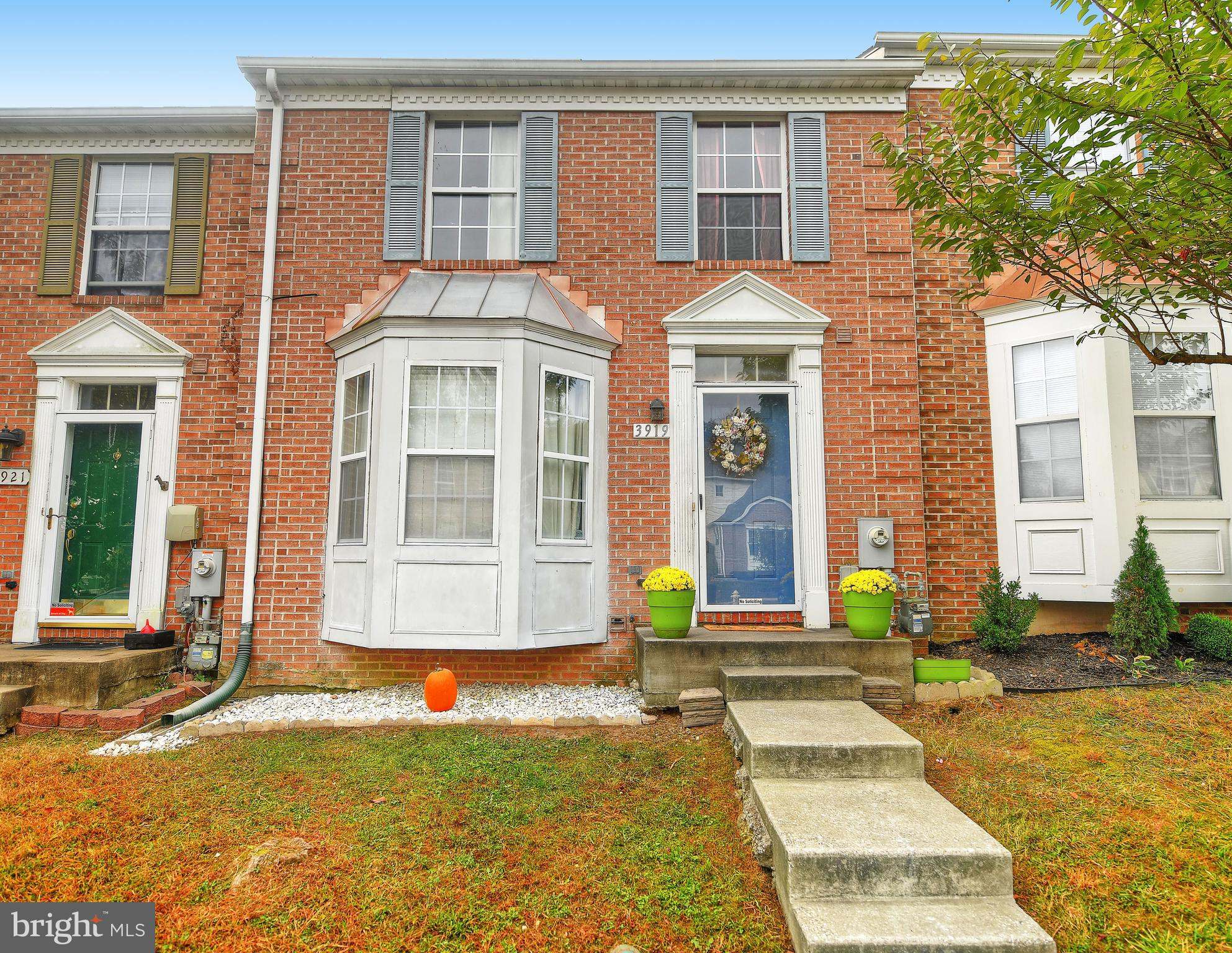 Spacious 3 bedroom 3.5 bath brick front interior town home with bump out in Harford Town! Enter into