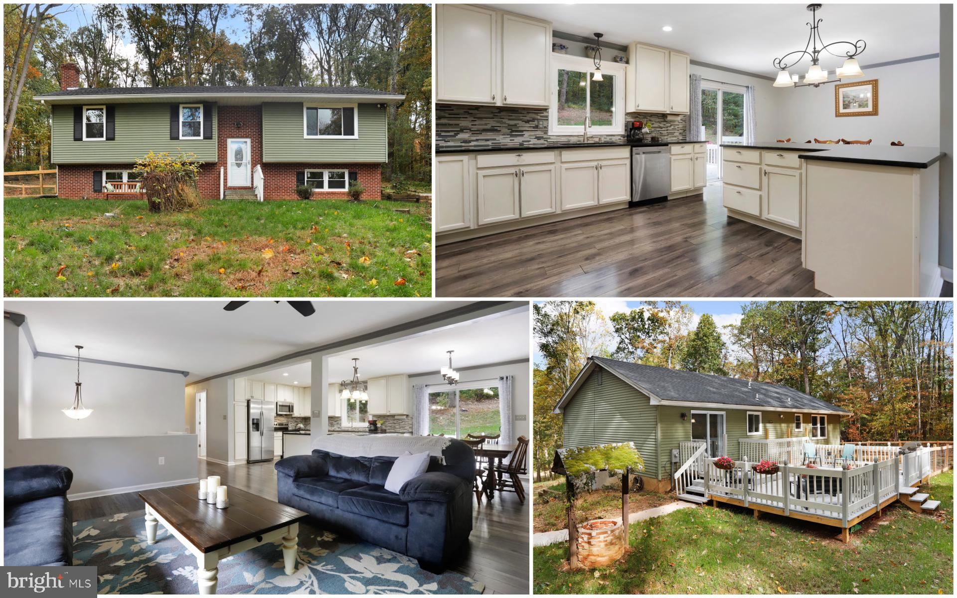 Great partial brick split foyer on a 1.28 acre private/wooded lot with a large rear deck! Interior f