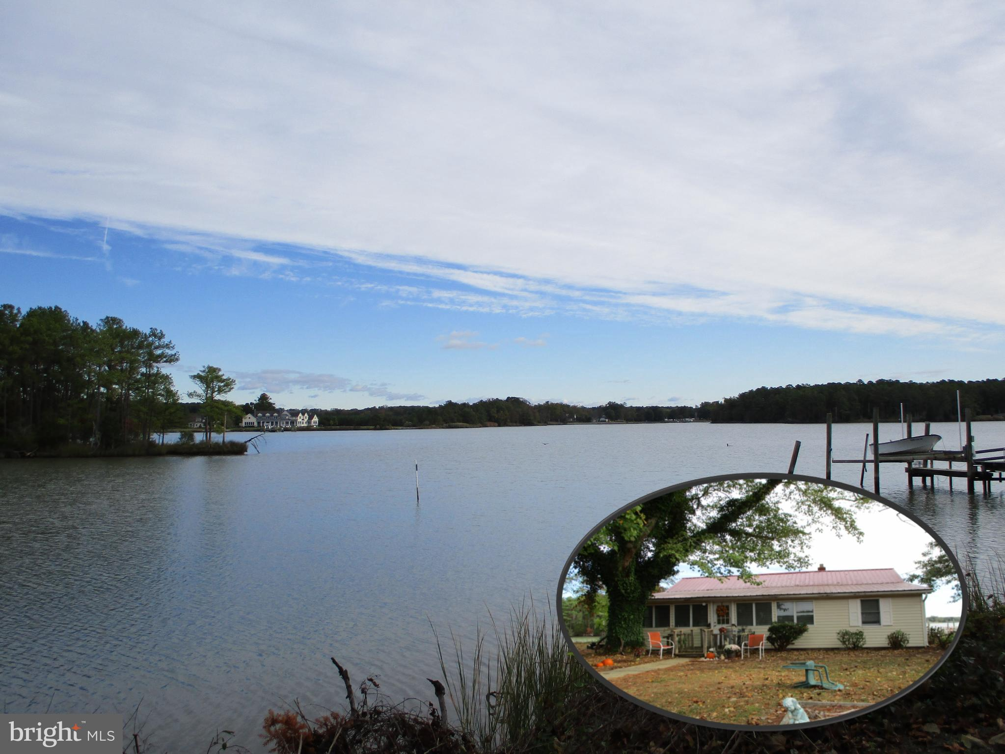 Beautiful waterfront on St. George's Creek.  Home needs some work, so the value is in the land.  Acc
