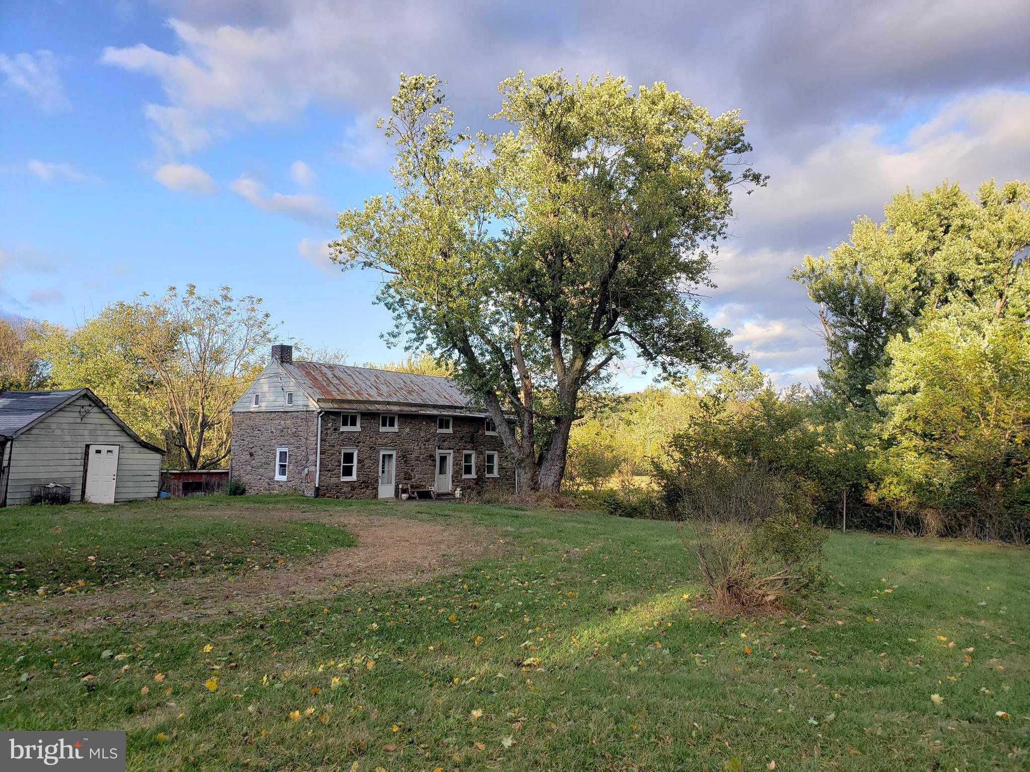 Unique opportunity to own small farm just outside of Frederick City limits.   Stone house believed t
