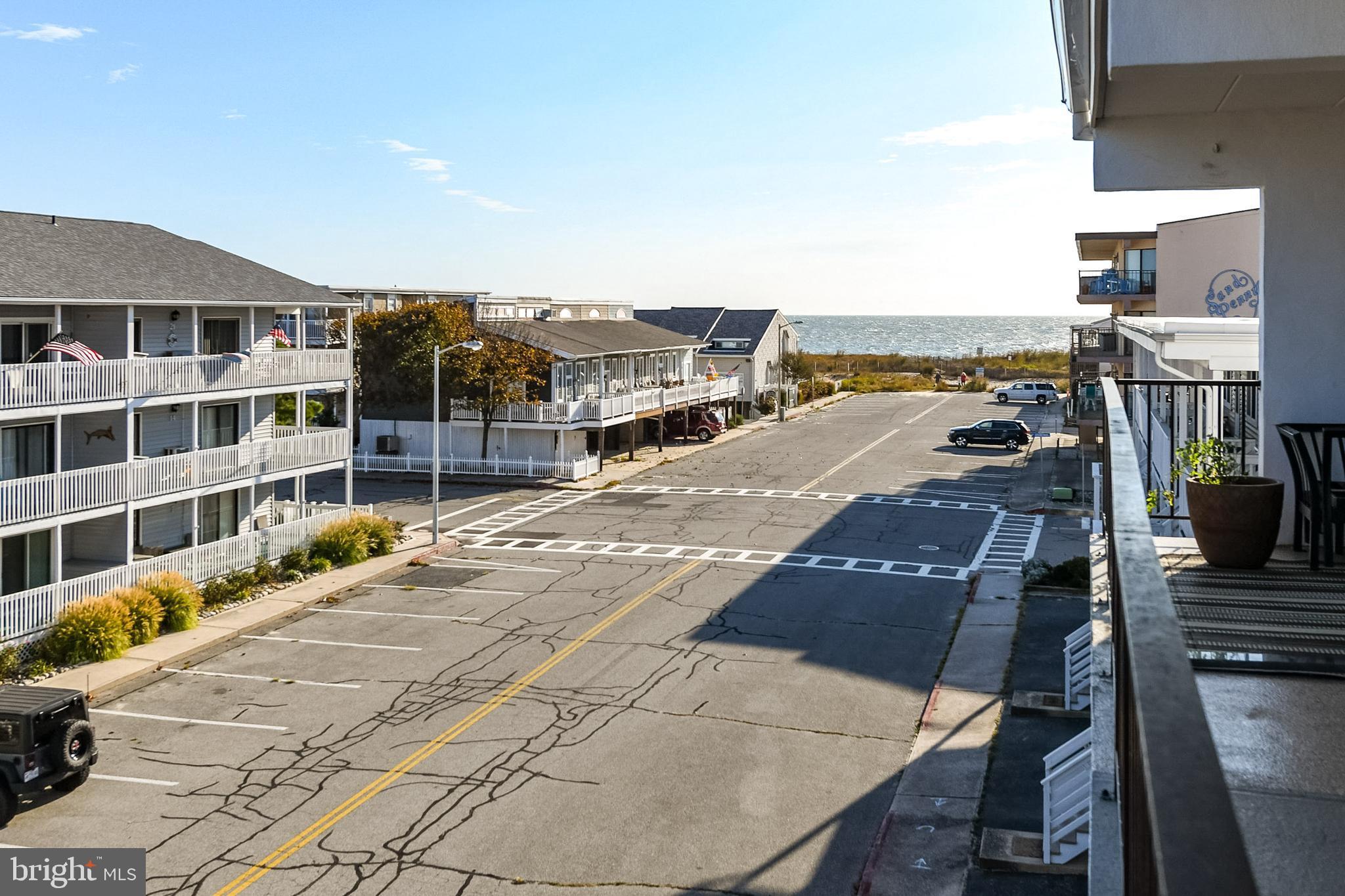 Enjoy  both ocean and bay views  from this ocean block condo in quiet, north Ocean City. Close to No