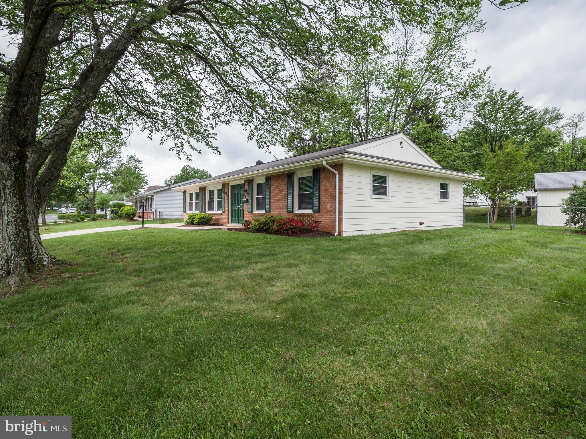 New on the market! 4 bed/2 bath rambler, HW floors, kitchen w/maple cabinets, corian counters, ss appliances.  Updated baths, full laundry room, newer HWH, windows. Fenced in yard, storage shed, patio, backyard perfect for entertaining. 1/2 mile to elementary school and WO&D trail, no HOA.  Great location and ready to move in!!