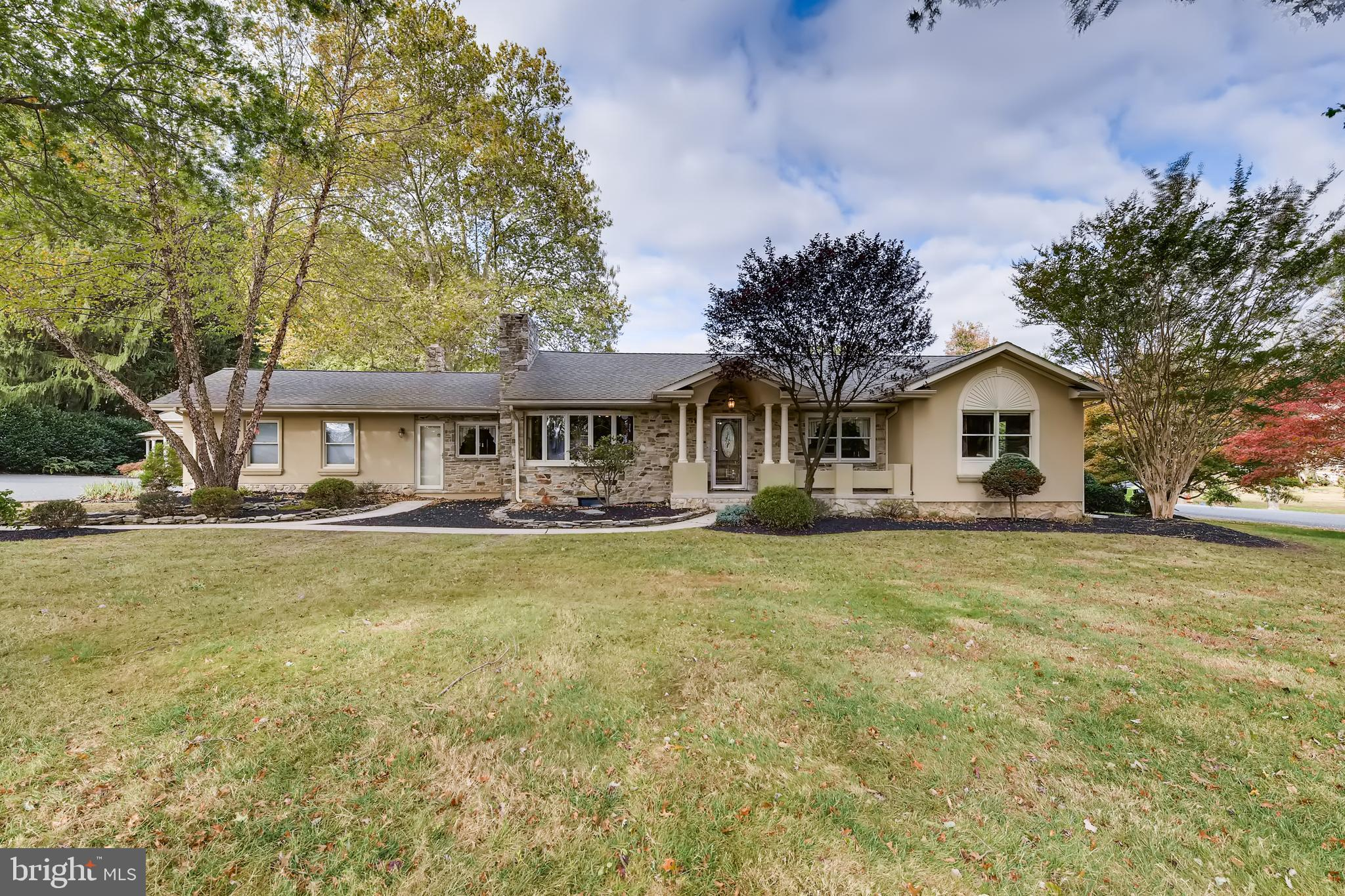 600 Old Joppa Rd is a sprawling stone rancher on over 2 acres in the Fallston school district of Har