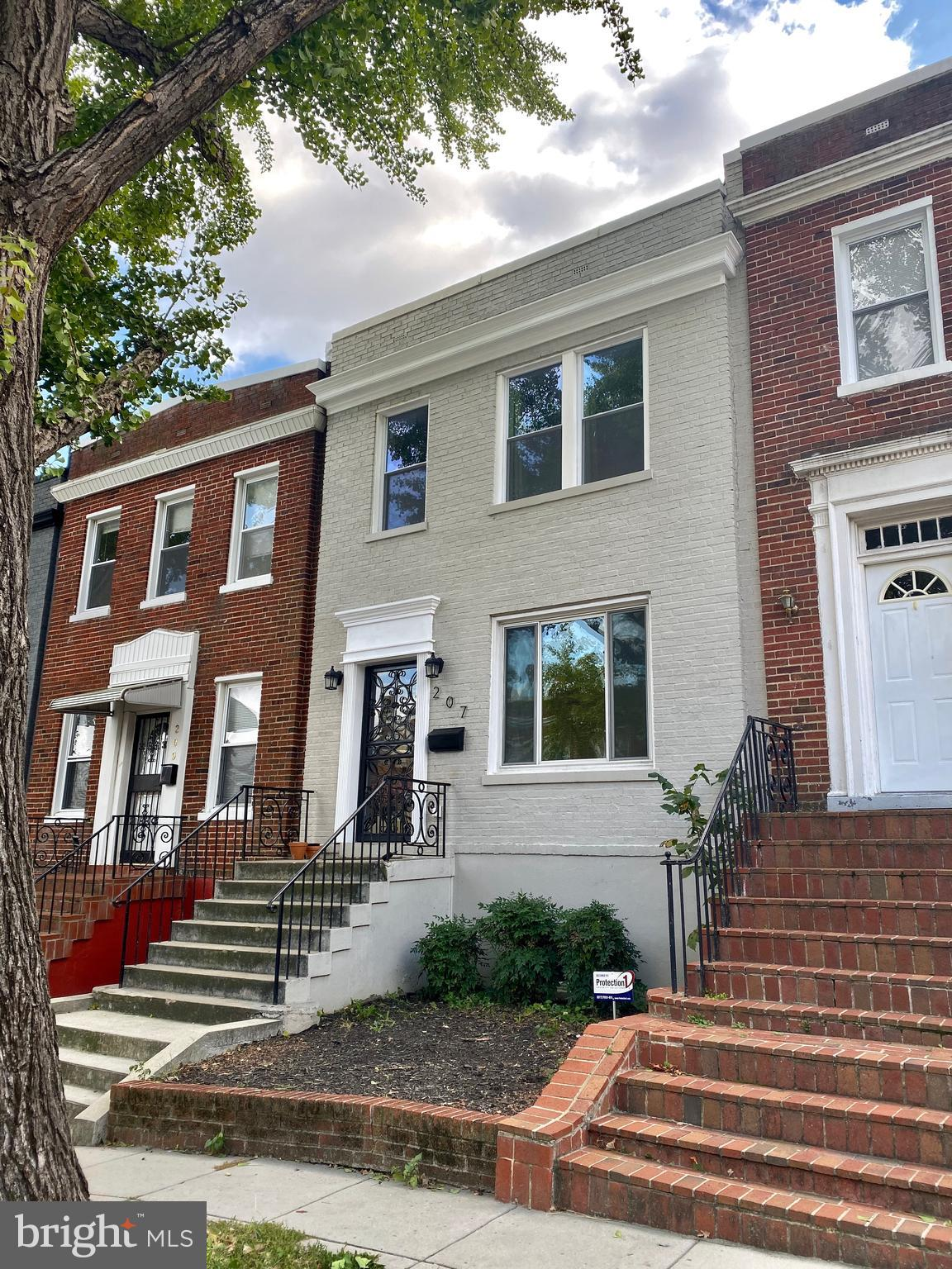 Beautiful renovated rowhouse in a tranquil enclave of Brookland!  Two bedrooms, two bathrooms and a