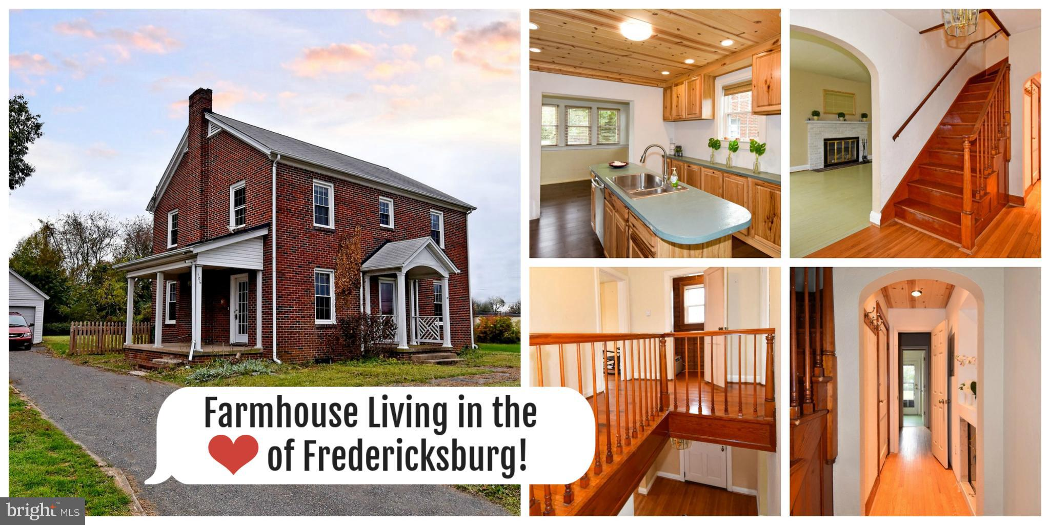 Welcome Home: Beautiful one of a kind brick home in the heart of Fredericksburg. Walking distance to