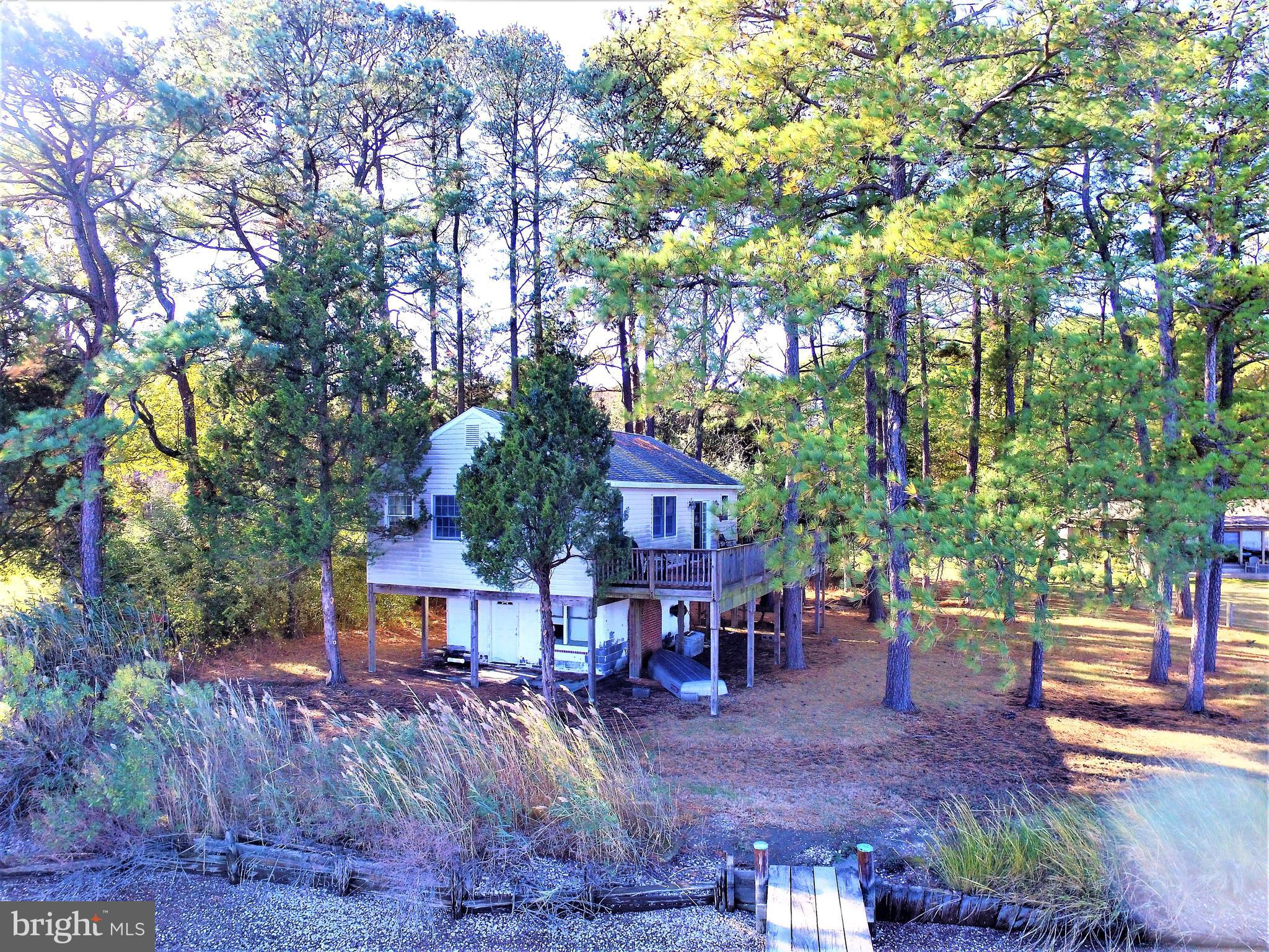 Estate Sale,  As is.  Escape to your Eastern Shore get away!  Waterfront Property.  Stunning views o