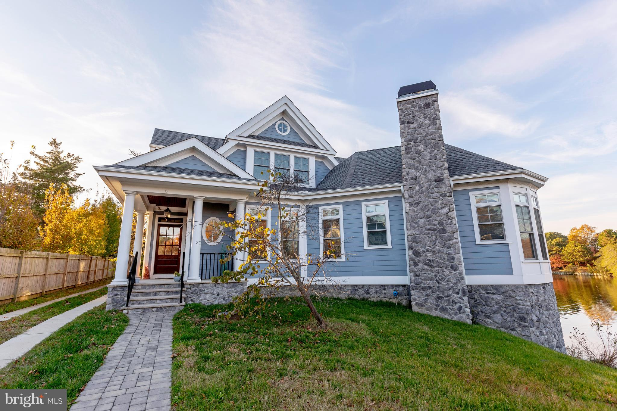Beautifully designed and masterfully crafted waterfront home in Rehoboth Beach.  Welcome to 6 Silver