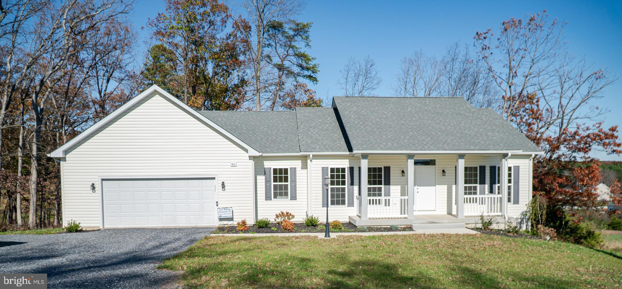 Move in ready new construction!  Main level living. Open floor plan. Kitchen has granite and stainle