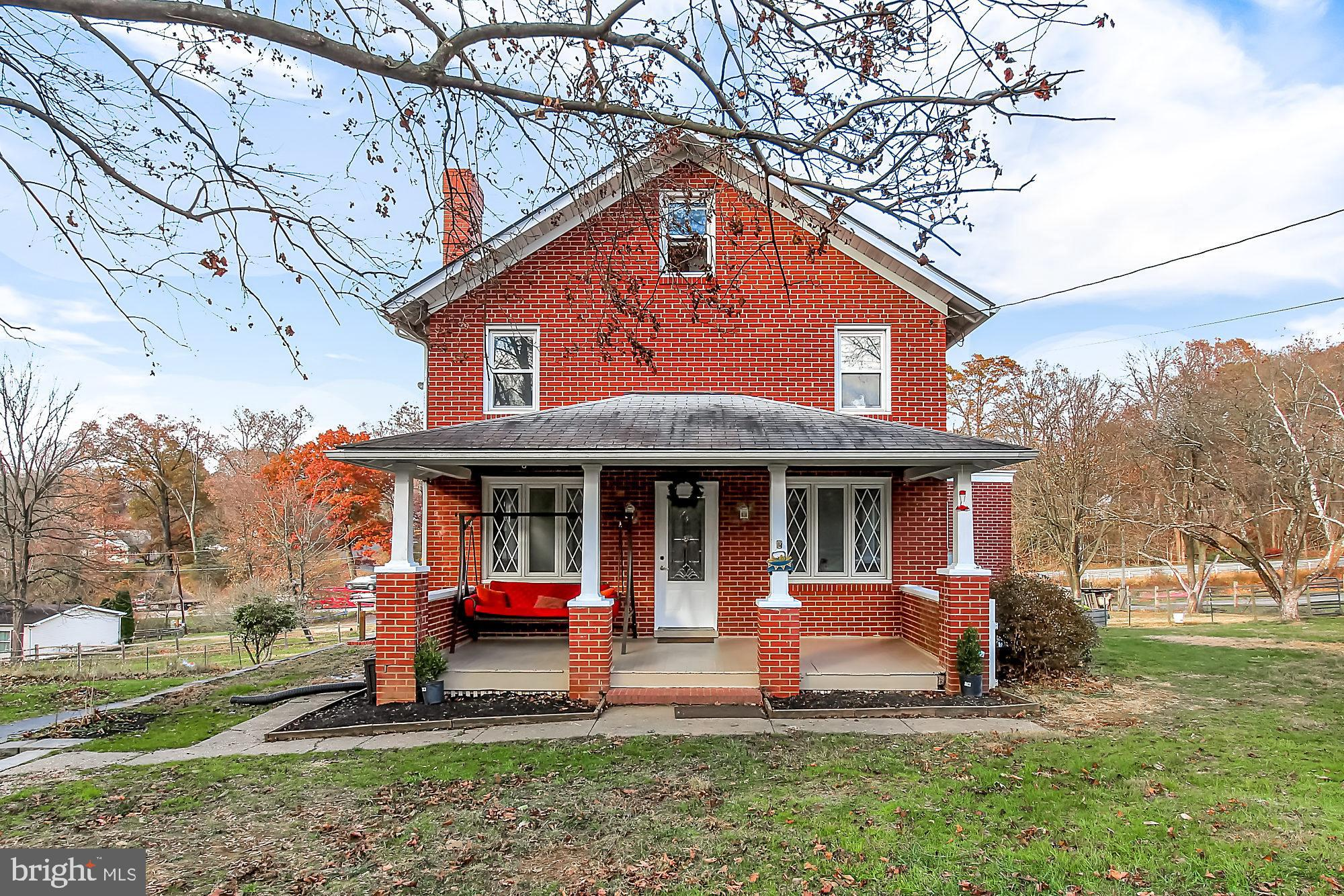 Come see this adorable farmhouse/Colonial located on almost an acre.  Front Porch to sit in your roc